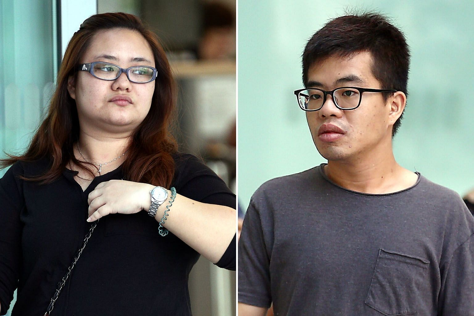 """The court heard that Amanda Yeo Pei Min told her then lover Leong Wei Guo (both above) to kill her husband as his death would """"settle all her problems"""". The Straits Times understands that they have since broken up and Yeo is also divorced from her hu"""