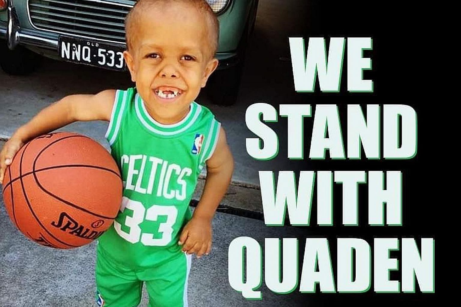 Chatri Sityodtong says his heart was broken when he saw the six-minute video of Quaden Bayles being bullied. Boston Celtics player Enes Kanter's picture in his post on Quaden Bayles with #WestandwithQuaden hashtag. PHOTO: TWITTER/ENESKANTER