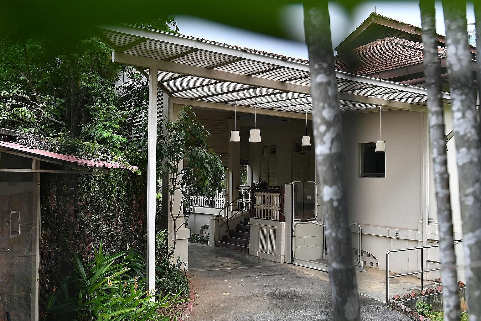 Left: 38 Oxley Road, the home of founding prime minister Lee Kuan Yew. Lawyer Lee Suet Fern (above) was found guilty by a disciplinary tribunal of grossly improper professional conduct in how she handled Mr Lee's will.