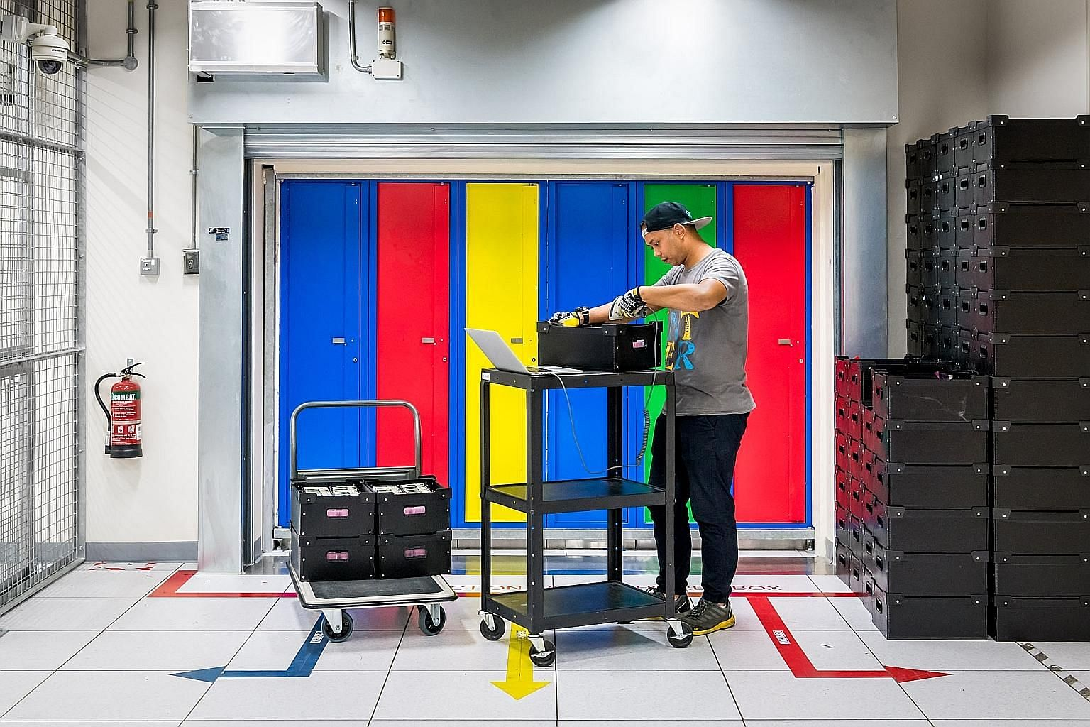 OCBC Bank's data centre logs and stores information and records of every transaction passing through the bank, from account openings to ATM withdrawals, and Internet and mobile banking transactions. A technician working at one of Google's data centre
