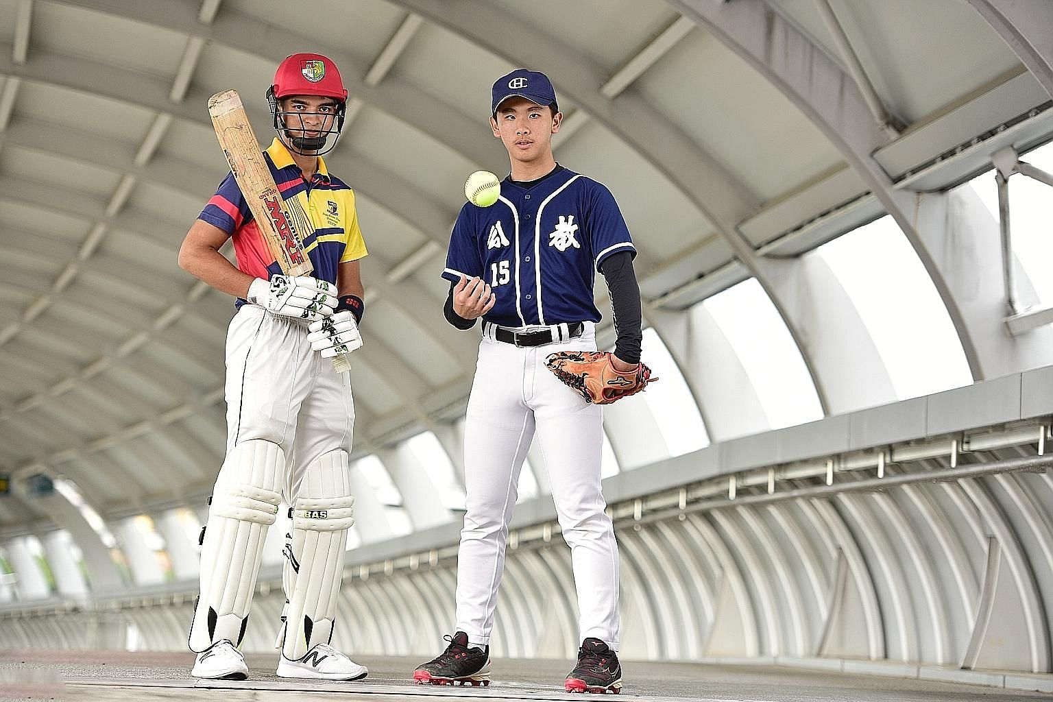 The Straits Times Young Athlete of the Year nominees Gune Atharva Rahul and Evan Poo ST PHOTO: DESMOND WEE