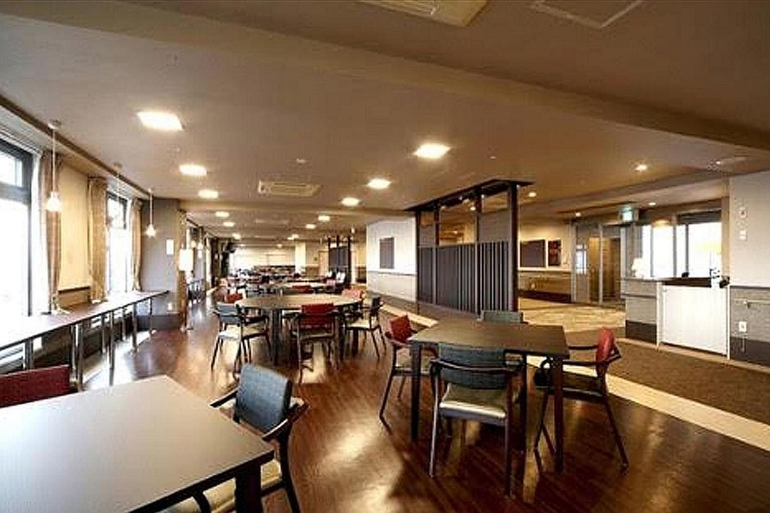 The dining area at the aged-care home in Nara, in the Osaka Metropolitan Region, acquired by Singapore Press Holdings. The other properties are three assets in Hokkaido and one in Tokyo.