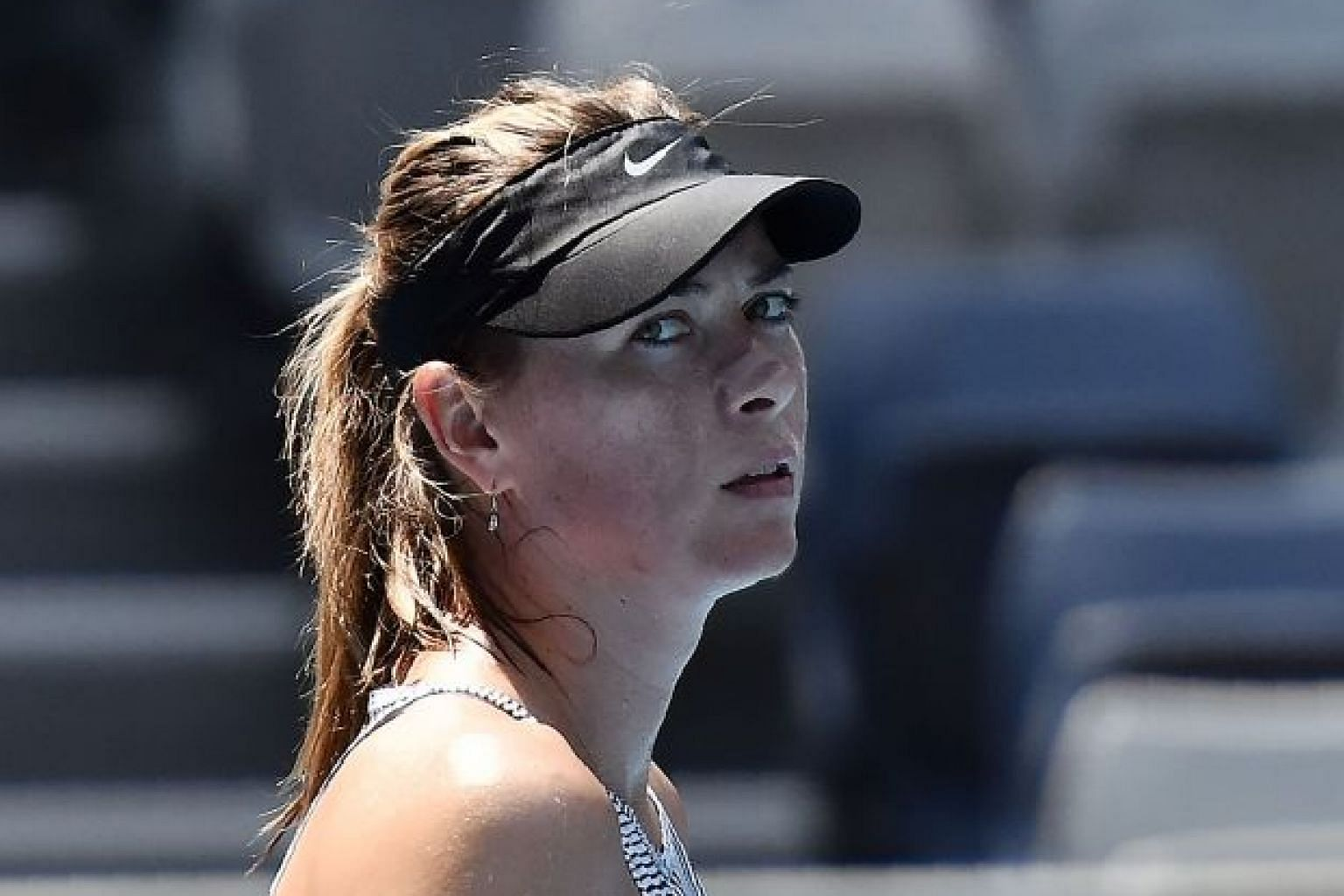 Russian tennis star Maria Sharapova during a practice session at this year's Australian Open. She is calling time on the sport after winning five Grand Slam titles and earning US$38.8 million in career prize money.