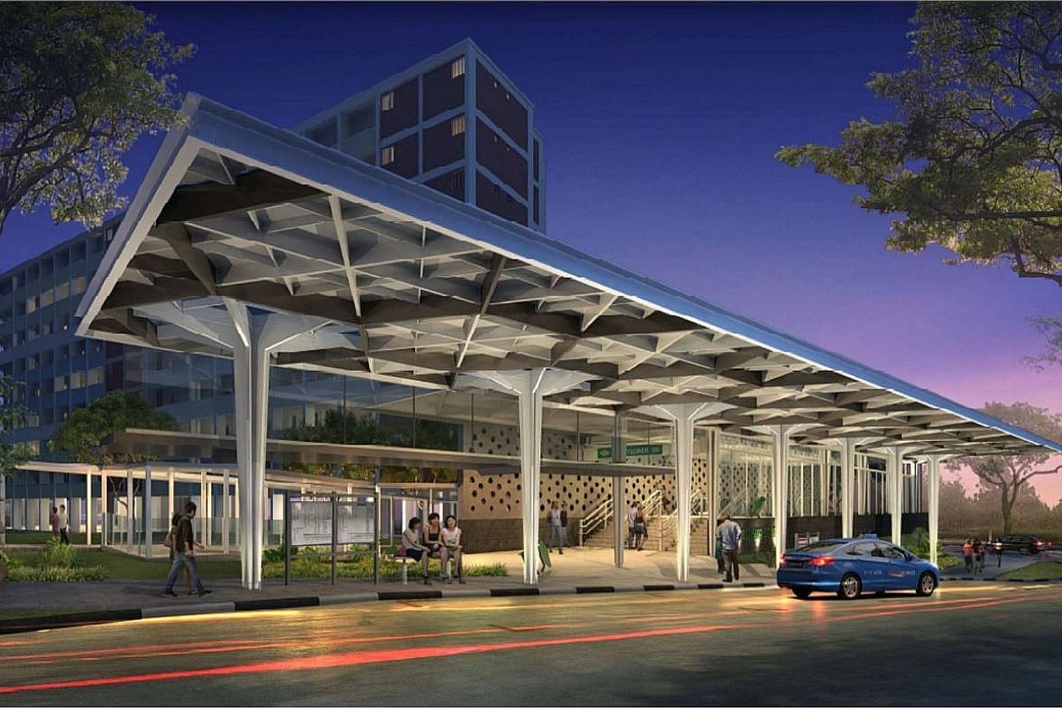 Artist's impressions of the upcoming Mayflower station in Ang Mo Kio.