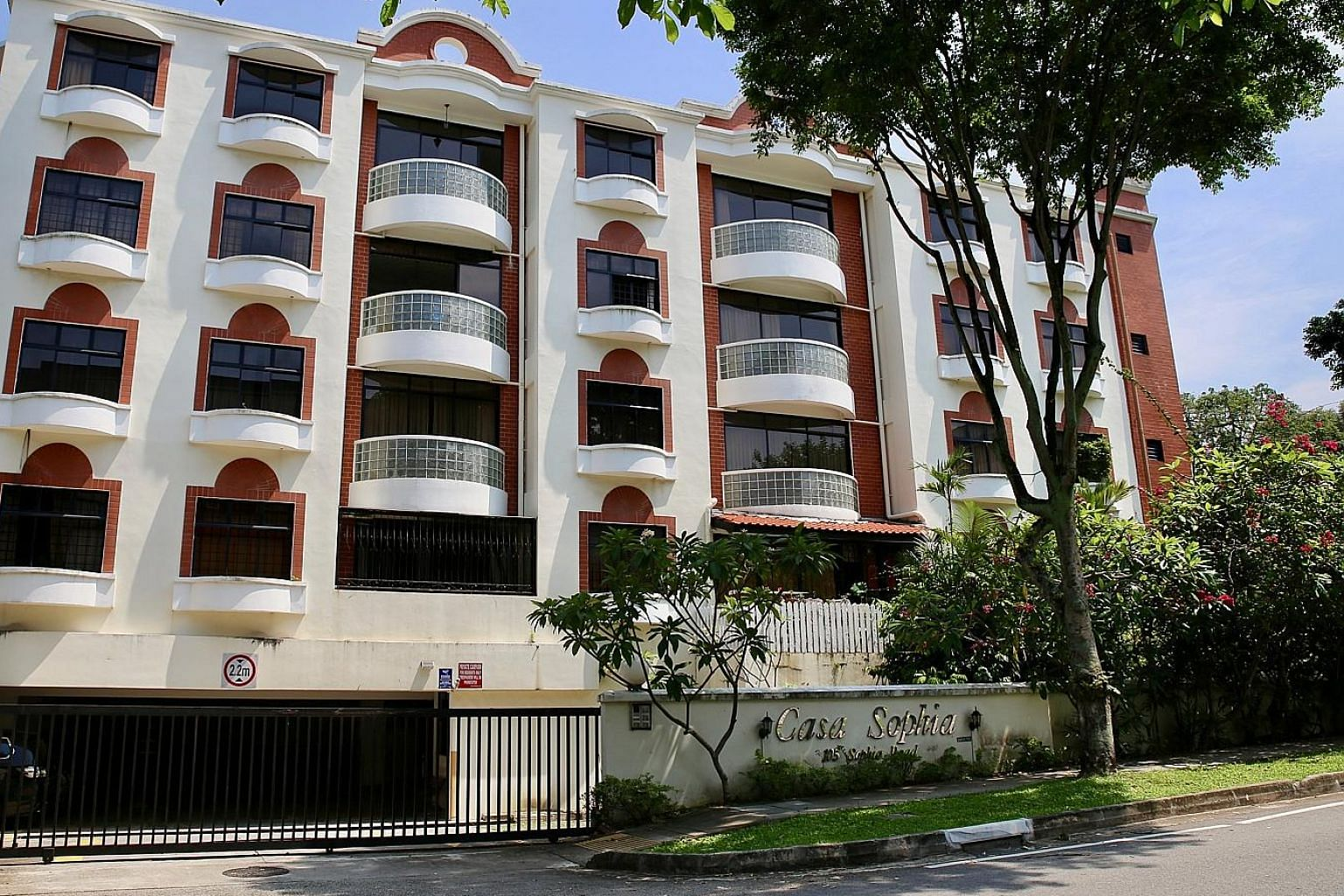 The 7 per cent cut in DC rates in sectors 34 and 35 could be due to the collective sale of Casa Sophia (above), said Ms Tricia Song of Colliers International.