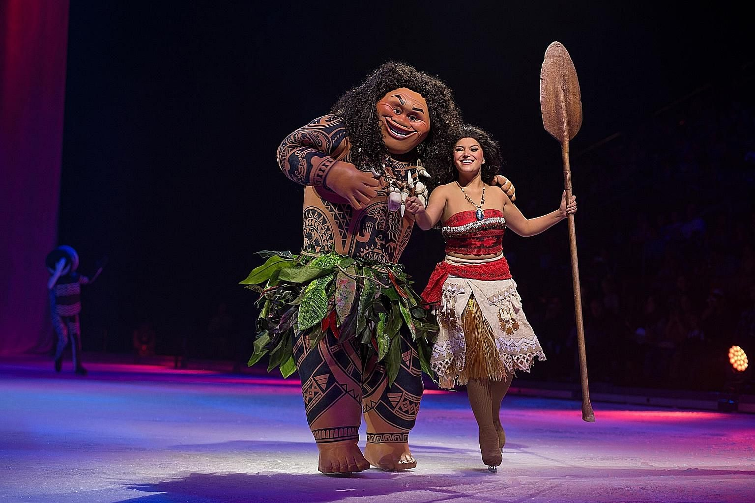 Live Your Dreams lets you follow Moana (right) on an adventure, with Mickey and Minnie Mouse presenting a feast for your senses, featuring the beloved characters from Beauty and the Beast, Frozen, Tangled, Cinderella, and Disney and Pixar's Coco.