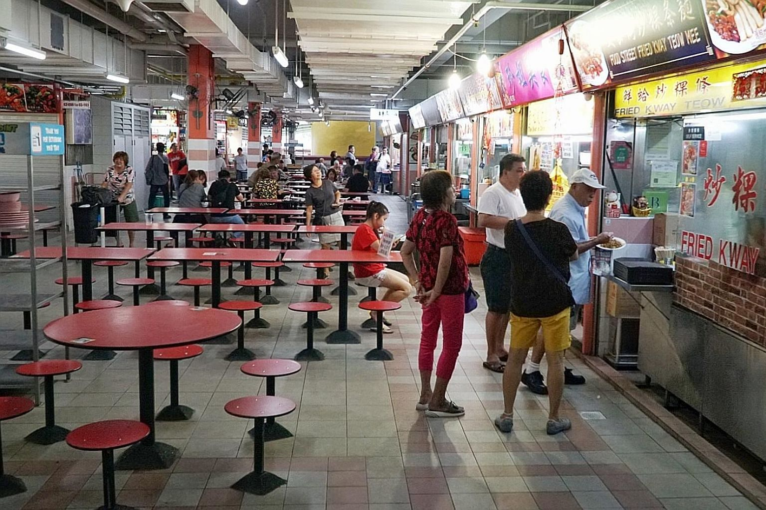 The Smith Street hawker centre (above) in Chinatown is yet another ghost town, with many stalls having been shut for weeks amid the coronavirus outbreak that originated in Wuhan city in China's Hubei province.