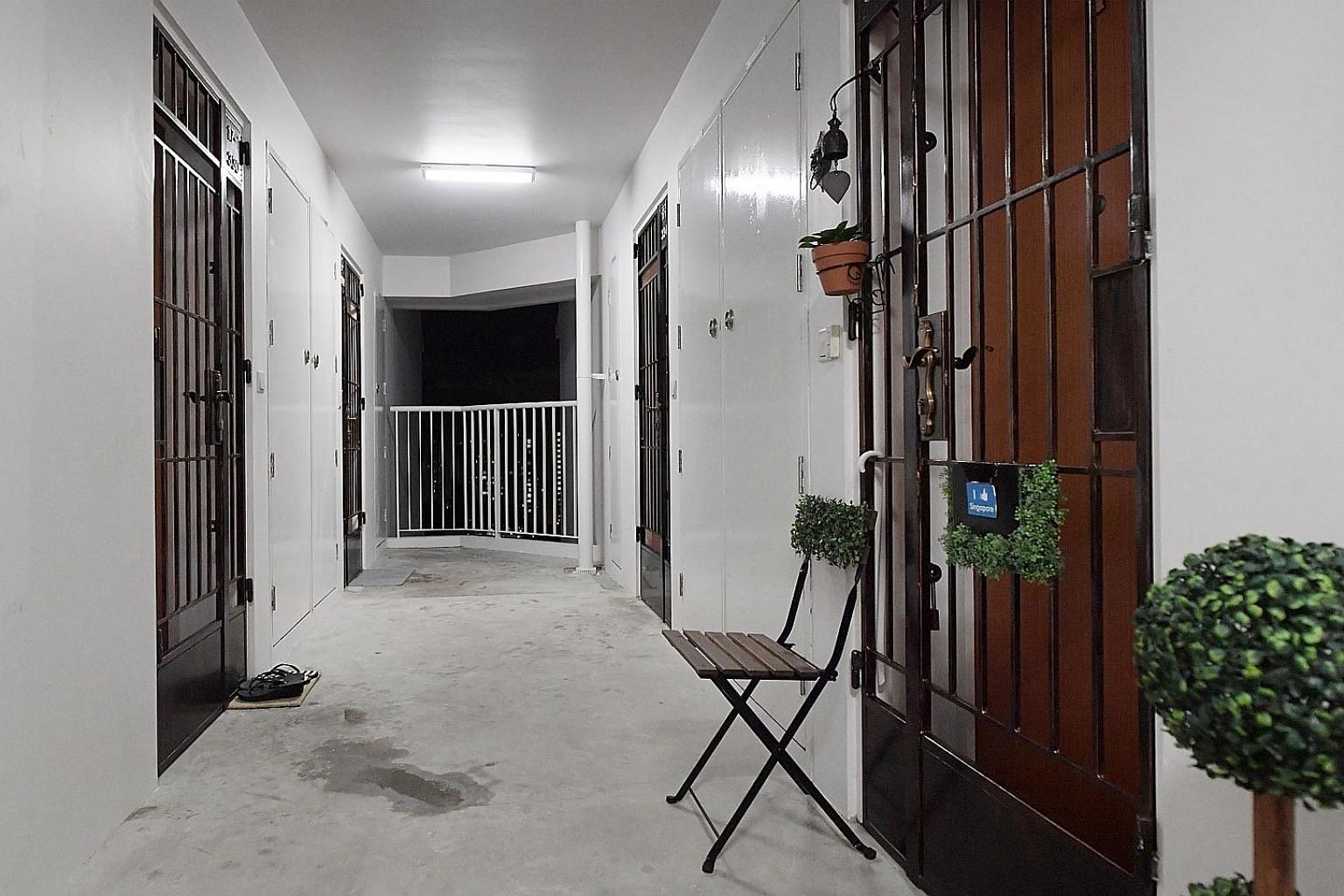 One of the two cases involved a housewife who lived in a unit (front, right) in Punggol. The other involved a couple from Bukit Panjang. In both cases, they were accused by their neighbours of creating a din.