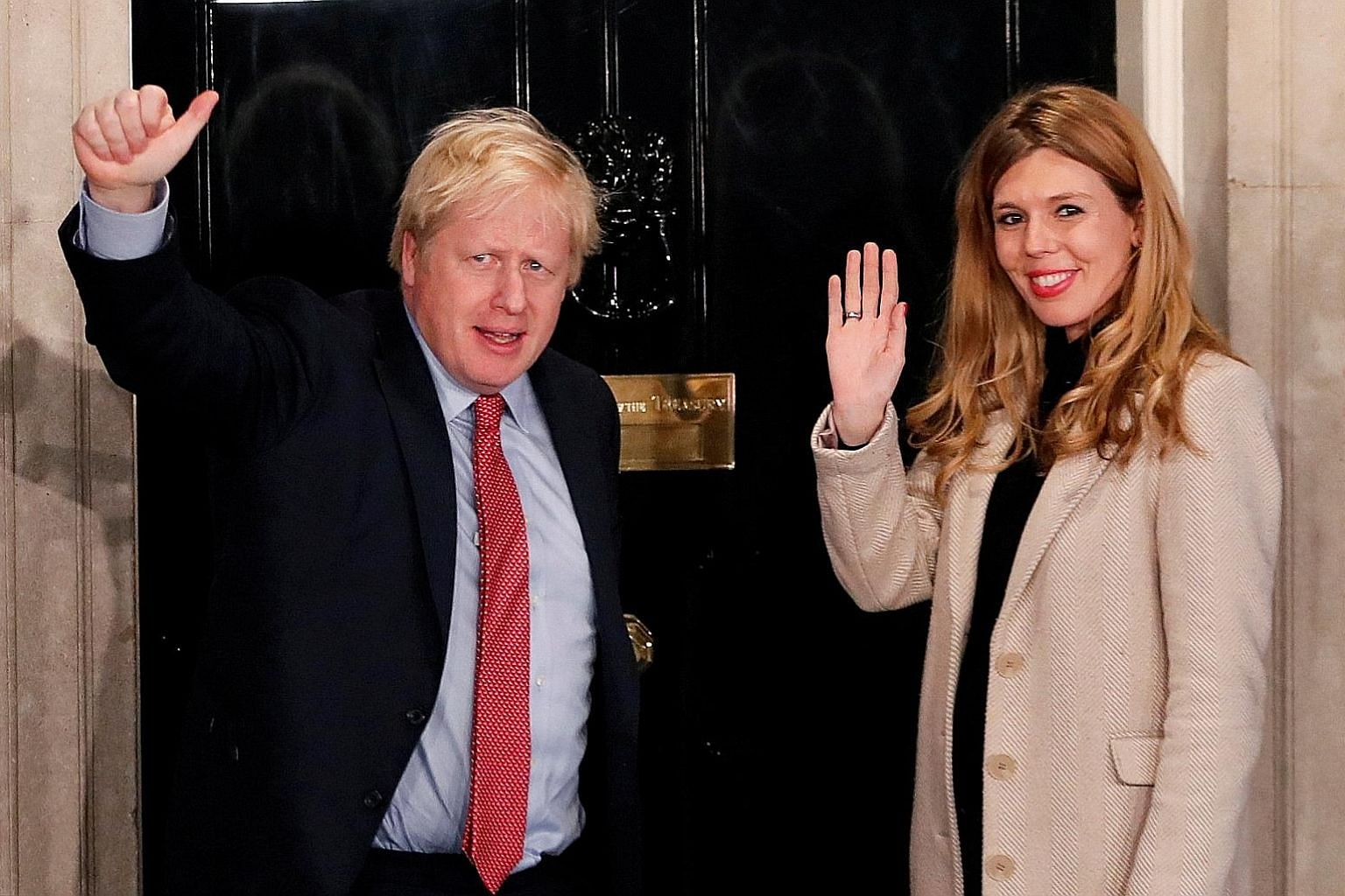 British Prime Minister Boris Johnson and girlfriend Carrie Symonds have been living together in Downing Street since Mr Johnson became premier in July, with Miss Symonds the first unmarried partner to live openly with a British leader in recent histo