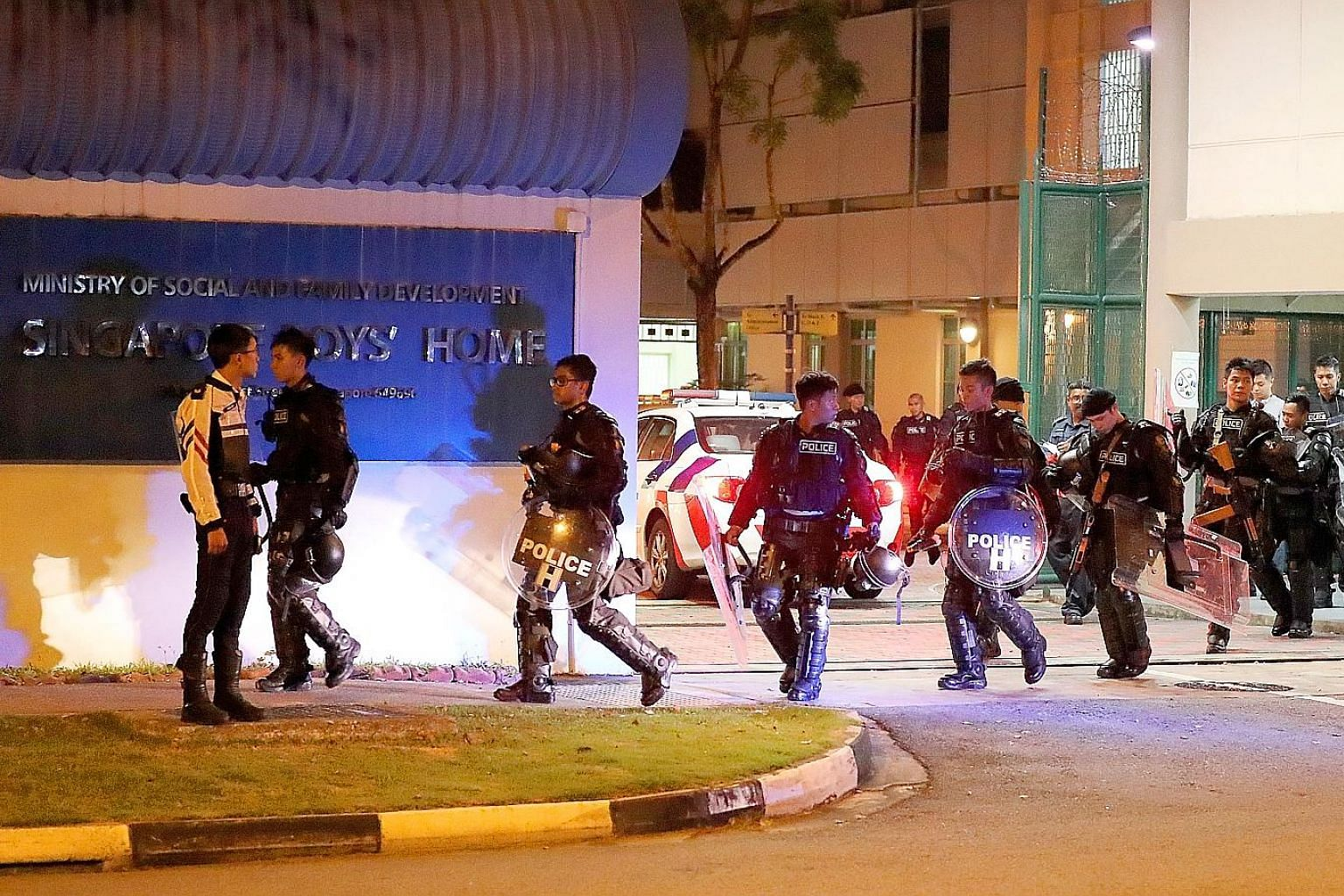 In September 2018, a riot broke out at the Singapore Boys' Home in its former location in Jurong West Street 24 when a group of residents attacked its staff with sports equipment. Three members of the staff were injured - an auxiliary police officer