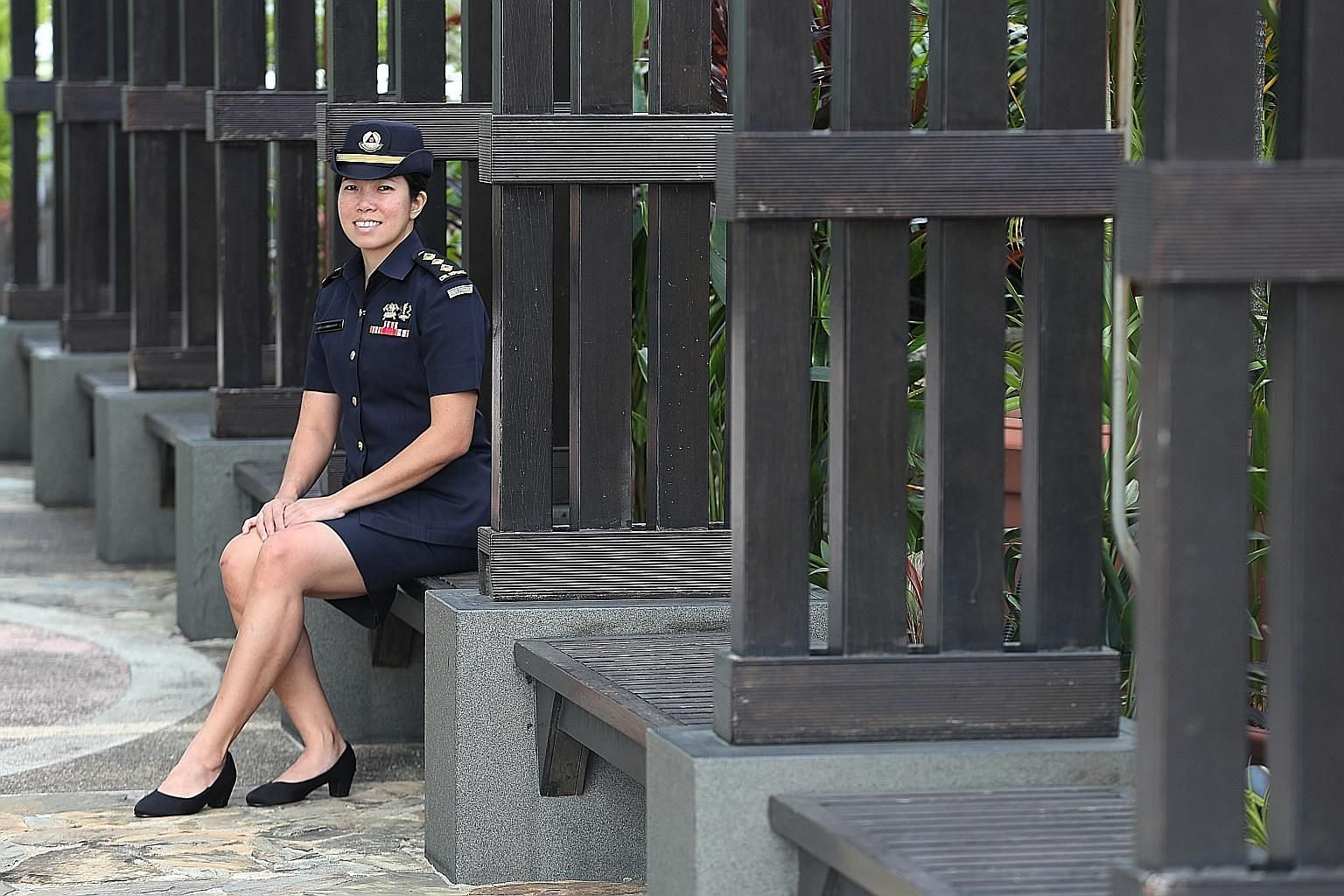 SCDF officer Amelia Lim is a member of the Asean Emergency Response and Assessment Team and also a certified leader in disaster management. ST PHOTO: TIMOTHY DAVID