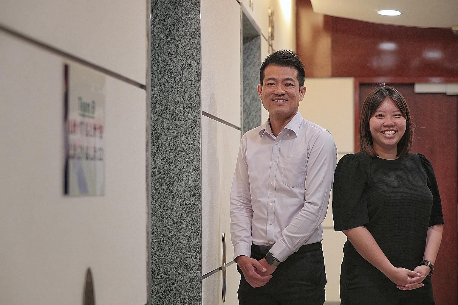 Assistant Superintendent of Police Johnny Lim and analyst He Minghui are part of the team that solved the mystery of how the Grace Assembly of God coronavirus cluster came about. ST PHOTO: JASON QUAH