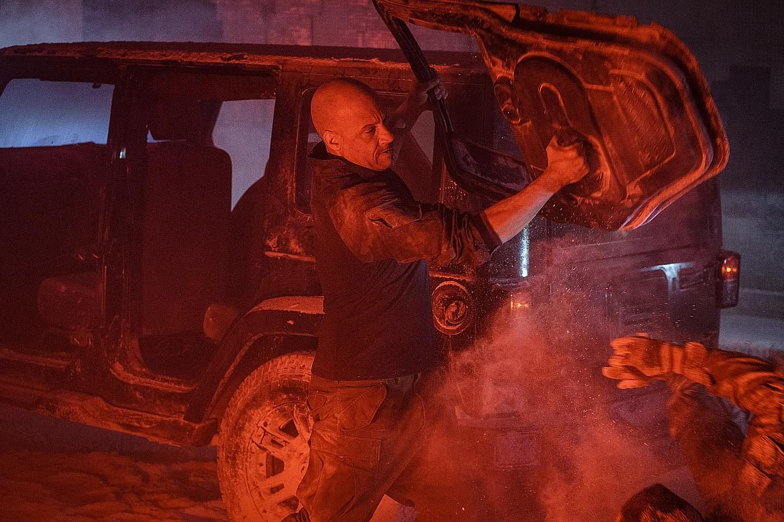 Vin Diesel stars in Bloodshot as a soldier brought back from the dead with super strength.