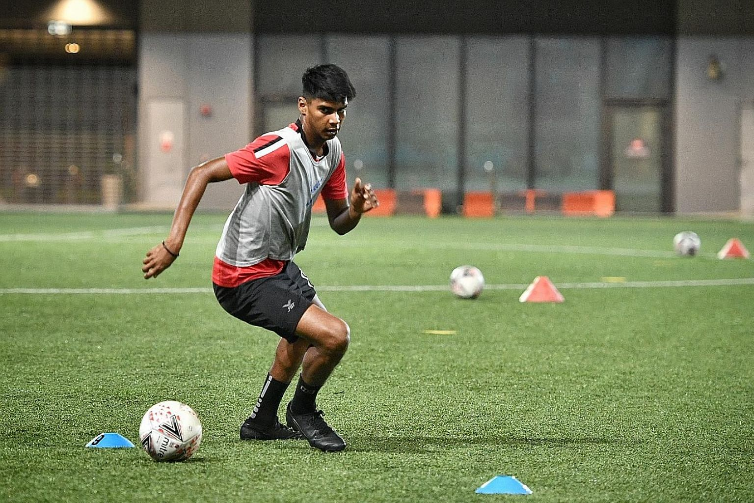 Geylang International's Iqbal Hussain was released by Hougang United, whom he faces today, after last season. He went for trials with Thai League 1 side Sukhothai but the deal collapsed at the last minute. ST PHOTO: ARIFFIN JAMAR