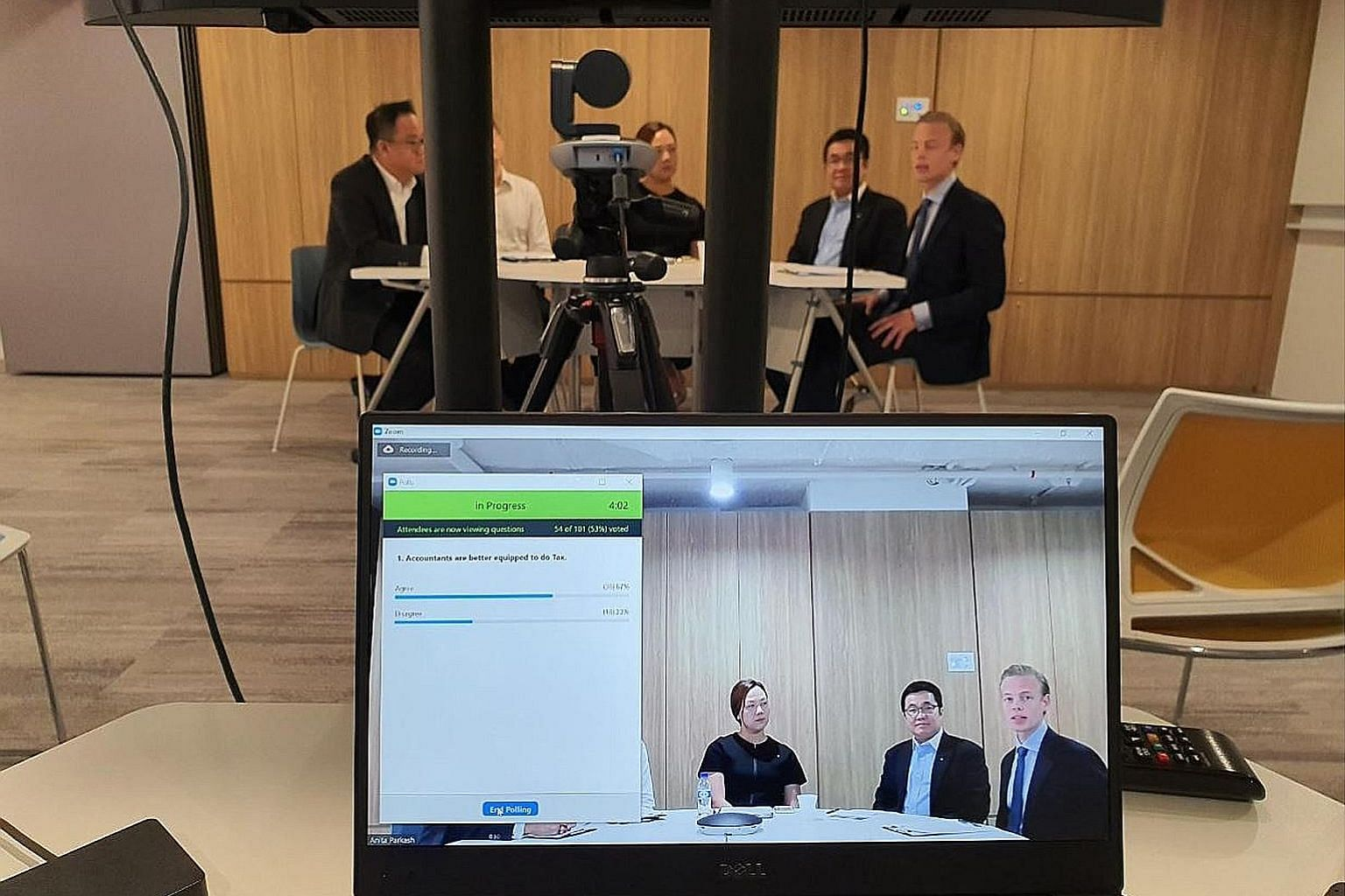 The panel conducting the Singapore Academy of Law's webinar, Tax Essentials for Young Corporate Lawyers, held earlier this month. PHOTO: SINGAPORE ACADEMY OF LAW