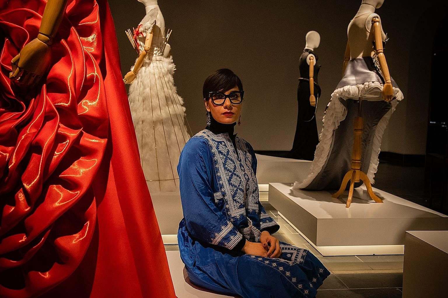 Photographer and artist Rada Akbar says her exhibition in Kabul explores female trailblazers during a fearful time for Afghan women. Each of the displays in the Superwomen show tells the story of a pioneer. PHOTO: NYTIMES