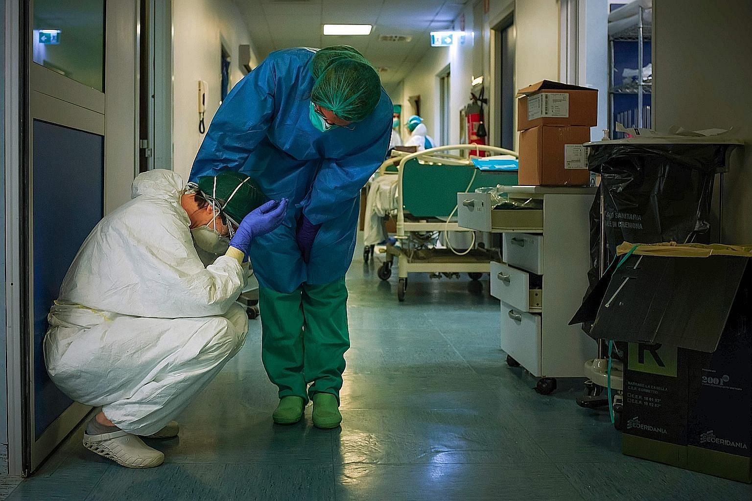 An emergency contingent of Cuban doctors and nurses arriving at the Malpensa airport in Milan, within the Lombardy region, on Sunday to help Italy in its long battle against the coronavirus pandemic. At Palazzo Marino in Milan, the headquarters of th