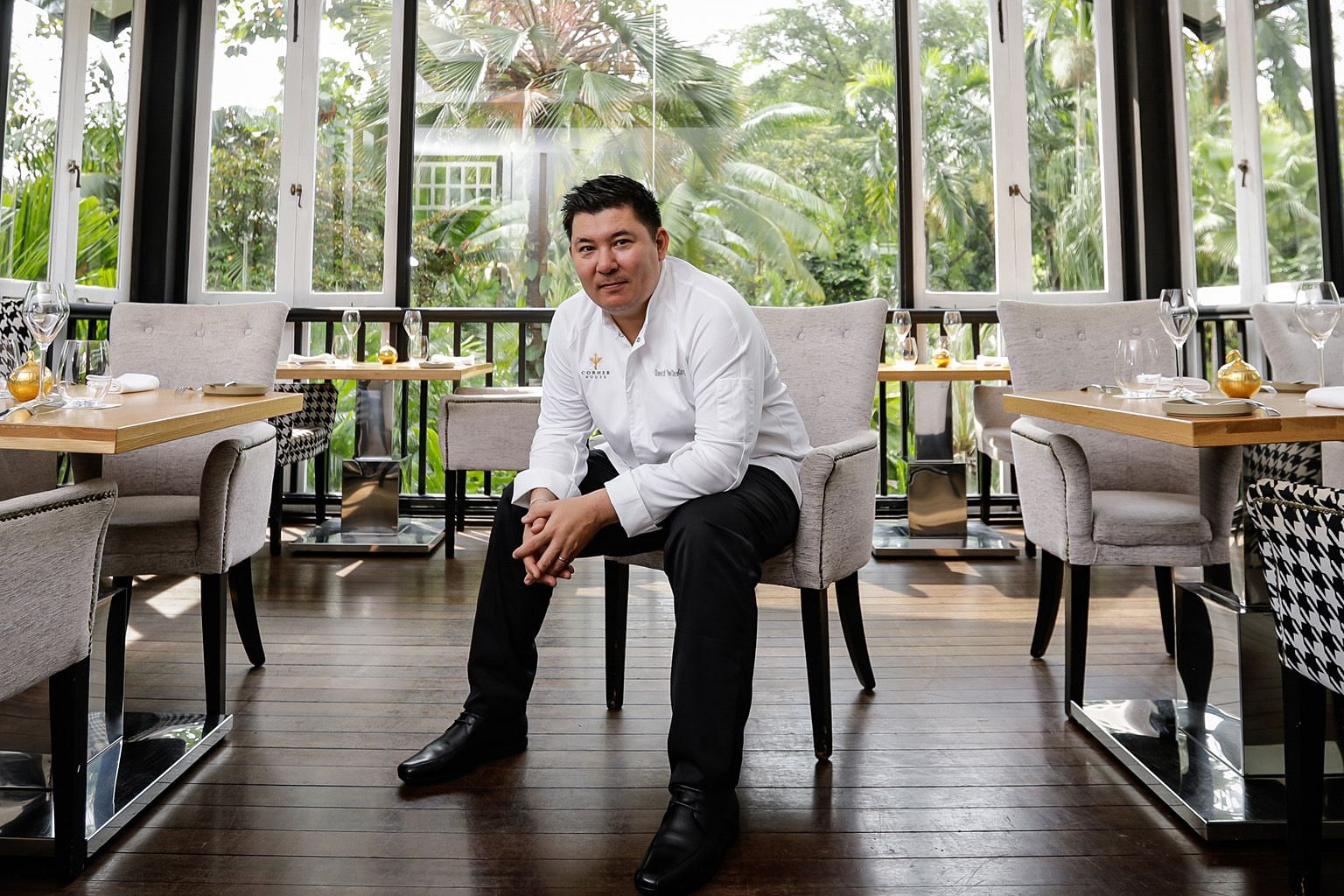 Chef David Thien (left), formerly of French restaurant Shelter in the Woods, is the new executive chef of one-Michelin-starred Corner House, as chef Jason Tan (above) steps down after almost six years.
