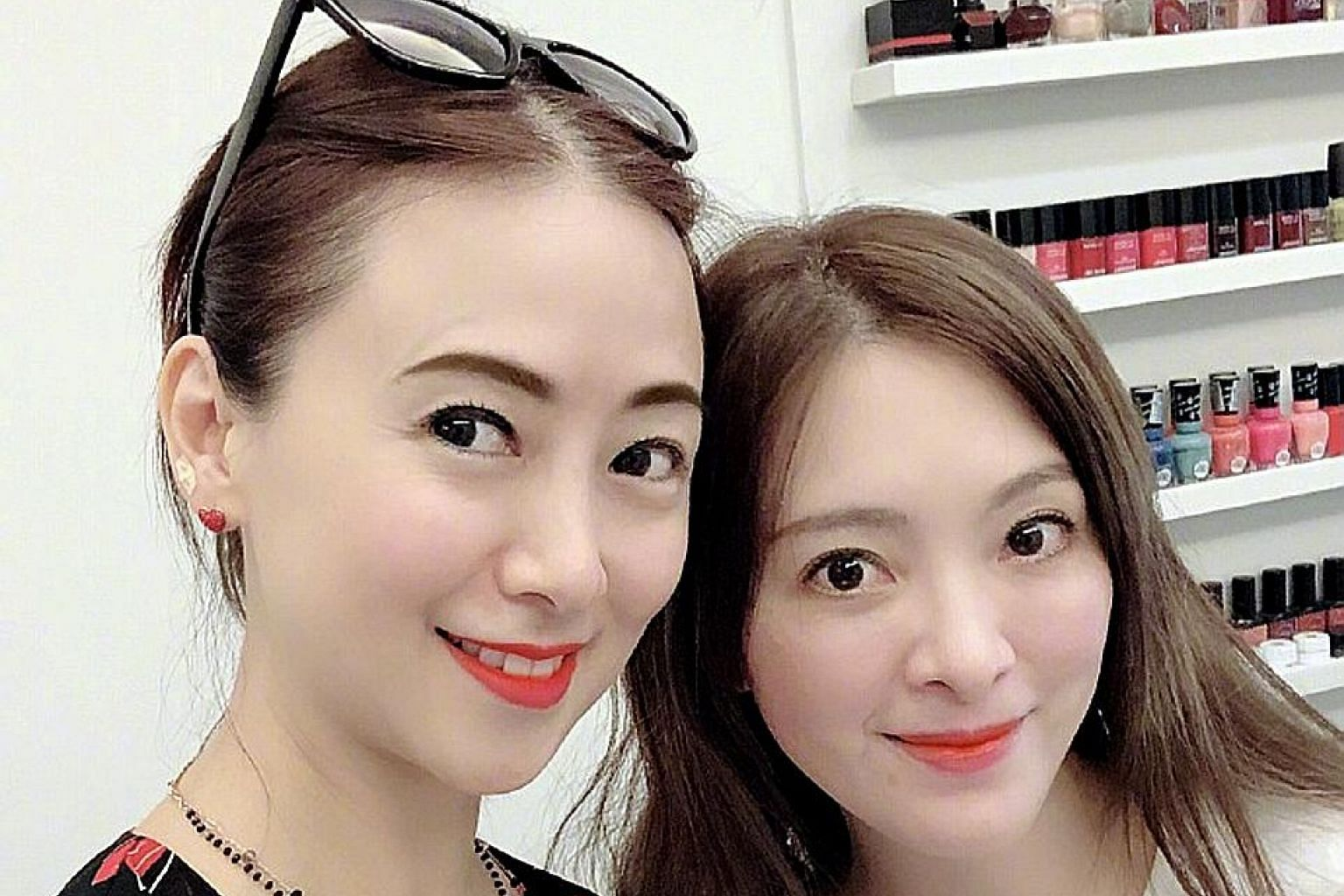 Hong Kong actress Yvonne Yung (left) with late celebrity dancer Serena Liu, with whom she said she shared much in common, including a love of dancing and shoes.