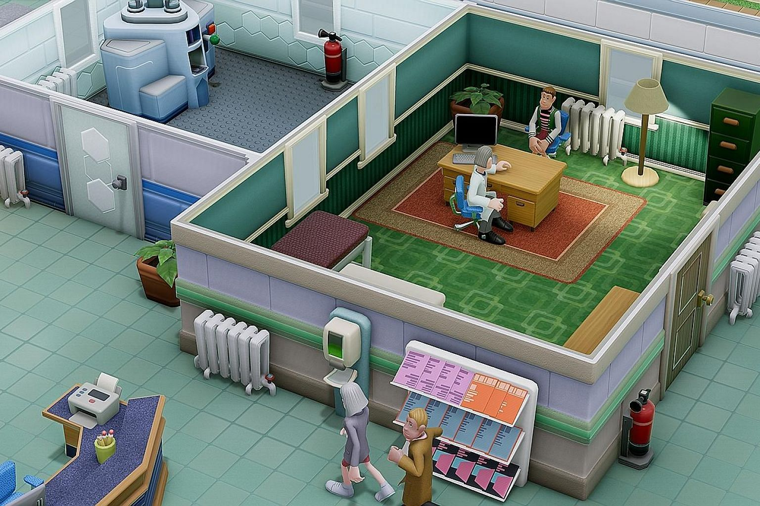In Two Point Hospital, players have to manage everything from staff recruitment to building toilets while ensuring a healthy profit.