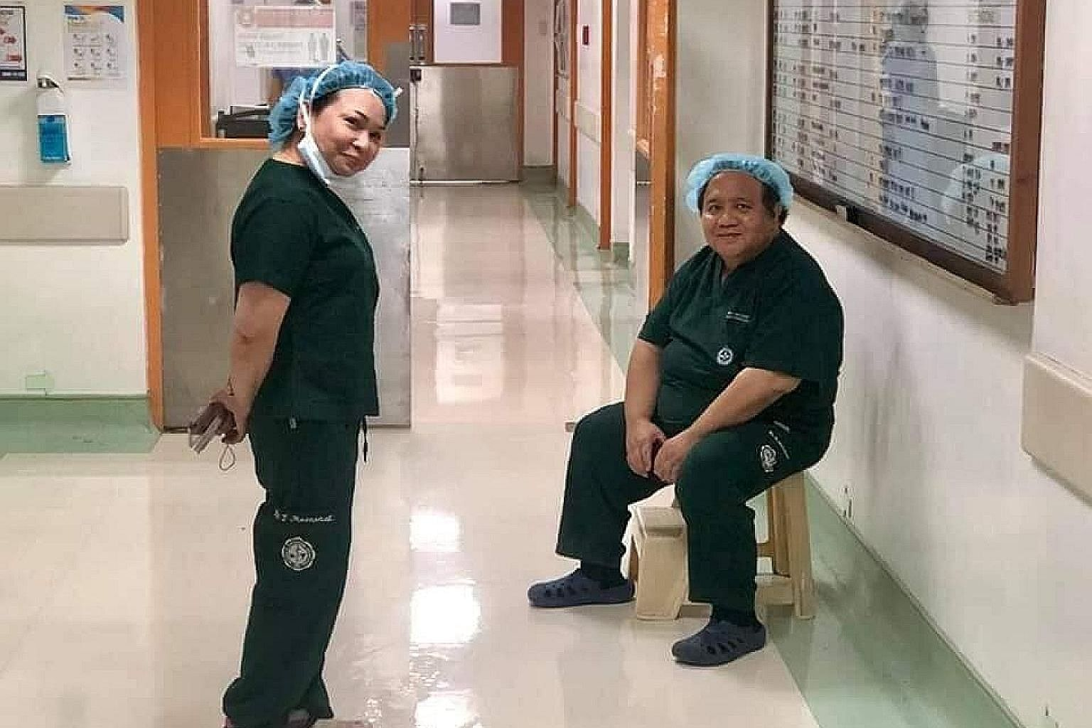 Dr Greg Macasaet and his wife, Evelyn, both anaesthesiologists at the Manila Doctors Hospital, got infected on the job. Dr Macasaet died on Sunday while his wife is still fighting for her life.