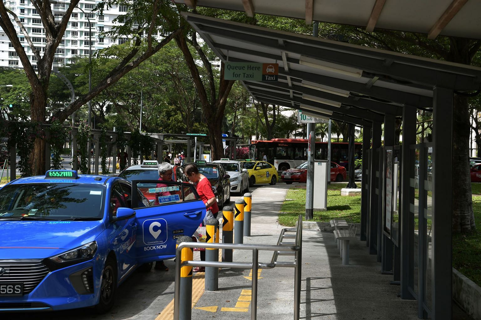 The point-to-point support package will be enhanced and extended to September, and $78 million will go towards main taxi hirers and qualifying private-hire car drivers. ST PHOTO: KUA CHEE SIONG
