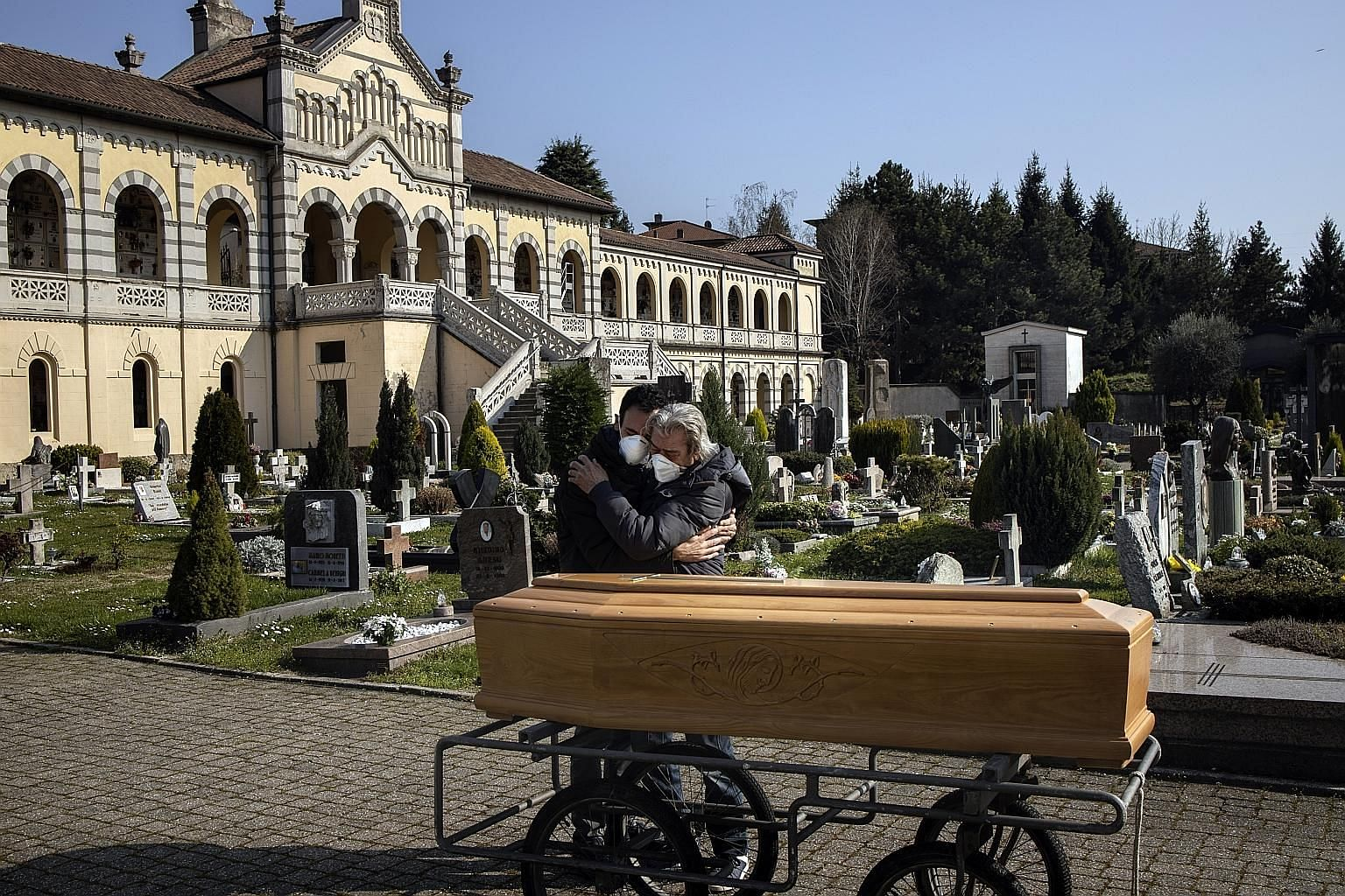 A woman's family mourning her death in Italy this month. She had pre-existing health problems and died at home without being tested for the coronavirus.