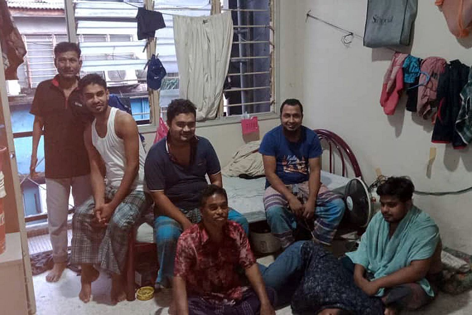 Social distancing is a challenge for these Bangladeshi migrant workers, cooped up in their shared living quarters in Petaling Jaya, Selangor, due to the movement control order.
