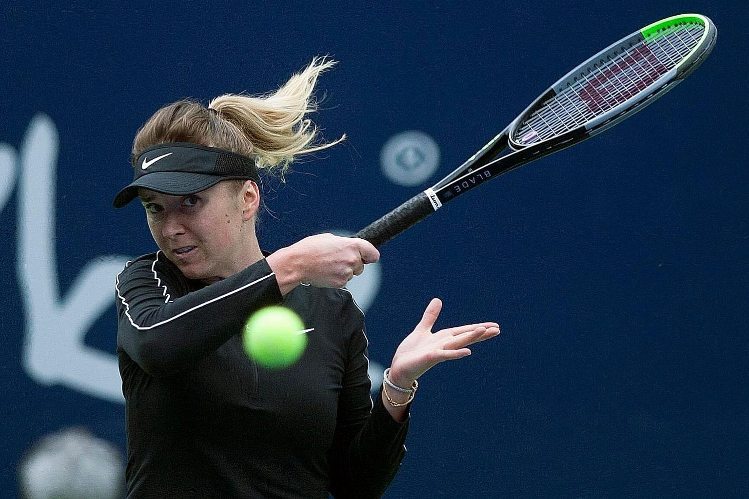 Ukraine's Elina Svitolina en route to beating Czech Marie Bouzkova to win the Monterrey Open in Mexico on March 8. Along with the Lyon Open, they were the last pieces of WTA Tour action before the coronavirus forced the suspension of the season. PHOT