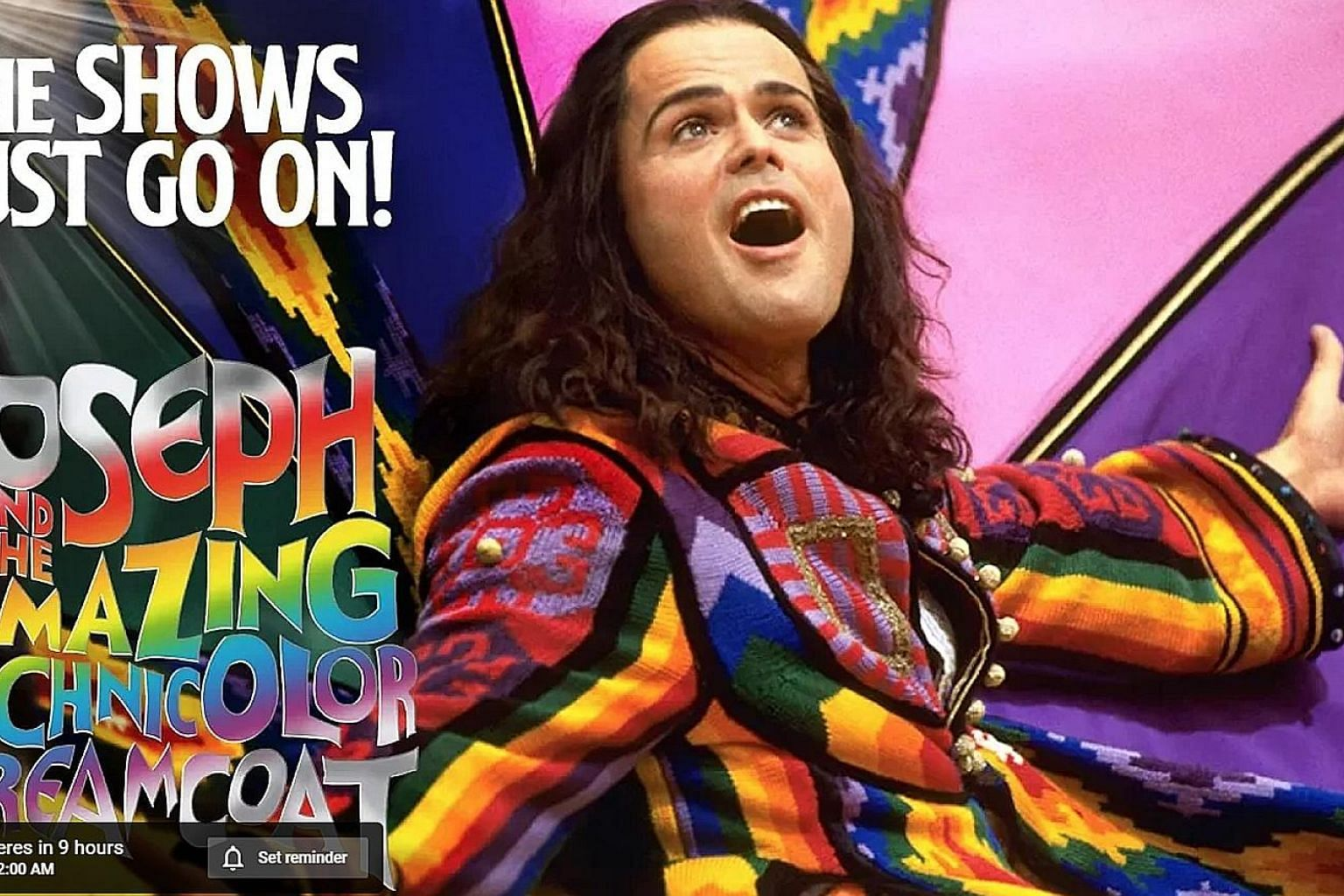 The Shows Must Go On! kicked off yesterday with a 2000 filmed version of Andrew Lloyd Webber's Joseph And The Amazing Technicolor Dreamcoat, starring Donny Osmond (above).