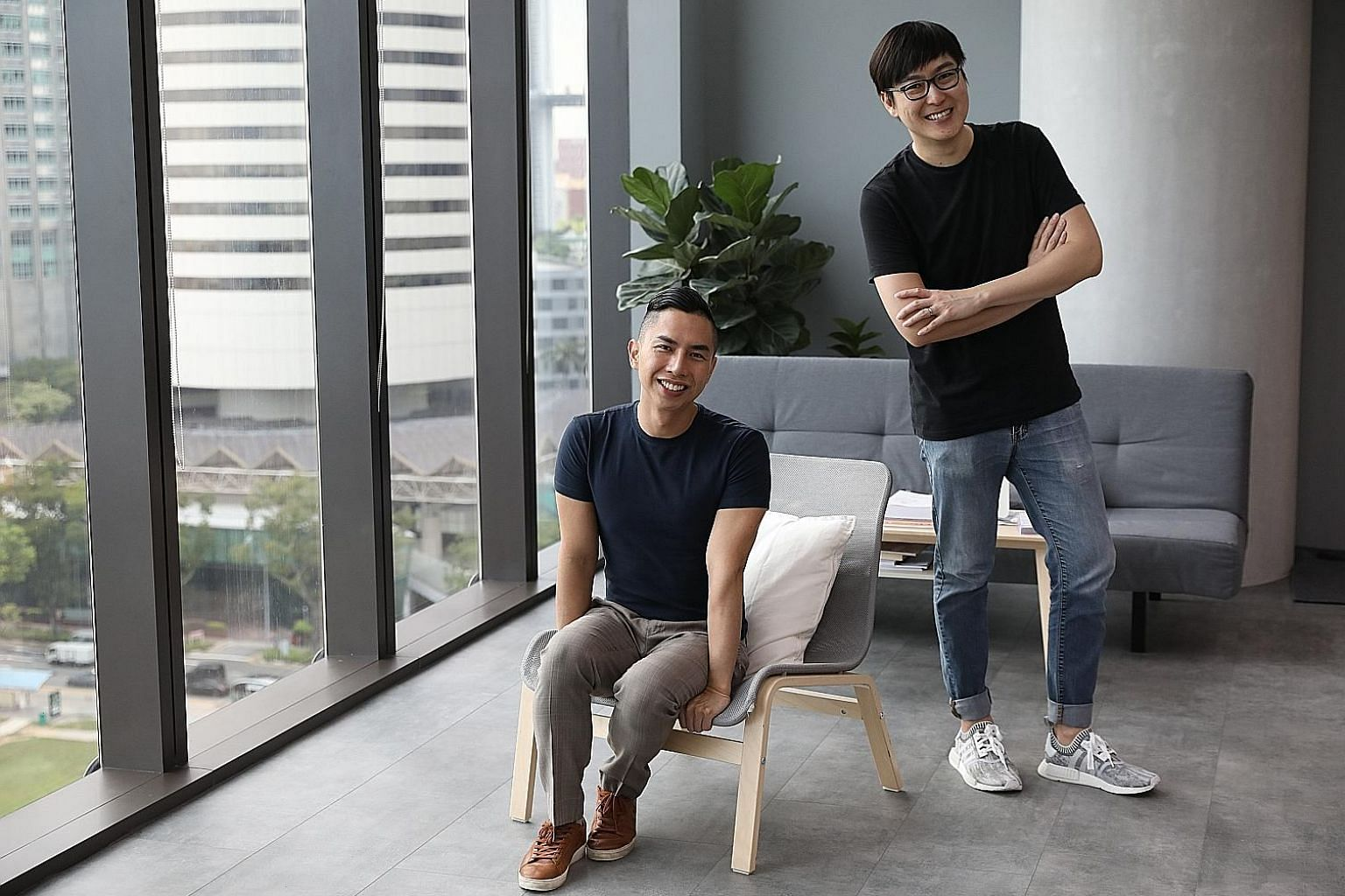 Teng Ensemble co-founders Samuel Wong (left) and Yang Ji Wei have invested in new equipment to shoot better content for online broadcast. The Singapore Symphony Orchestra (above) and Singapore Chinese Orchestra (left) are offering fresh as well as ar