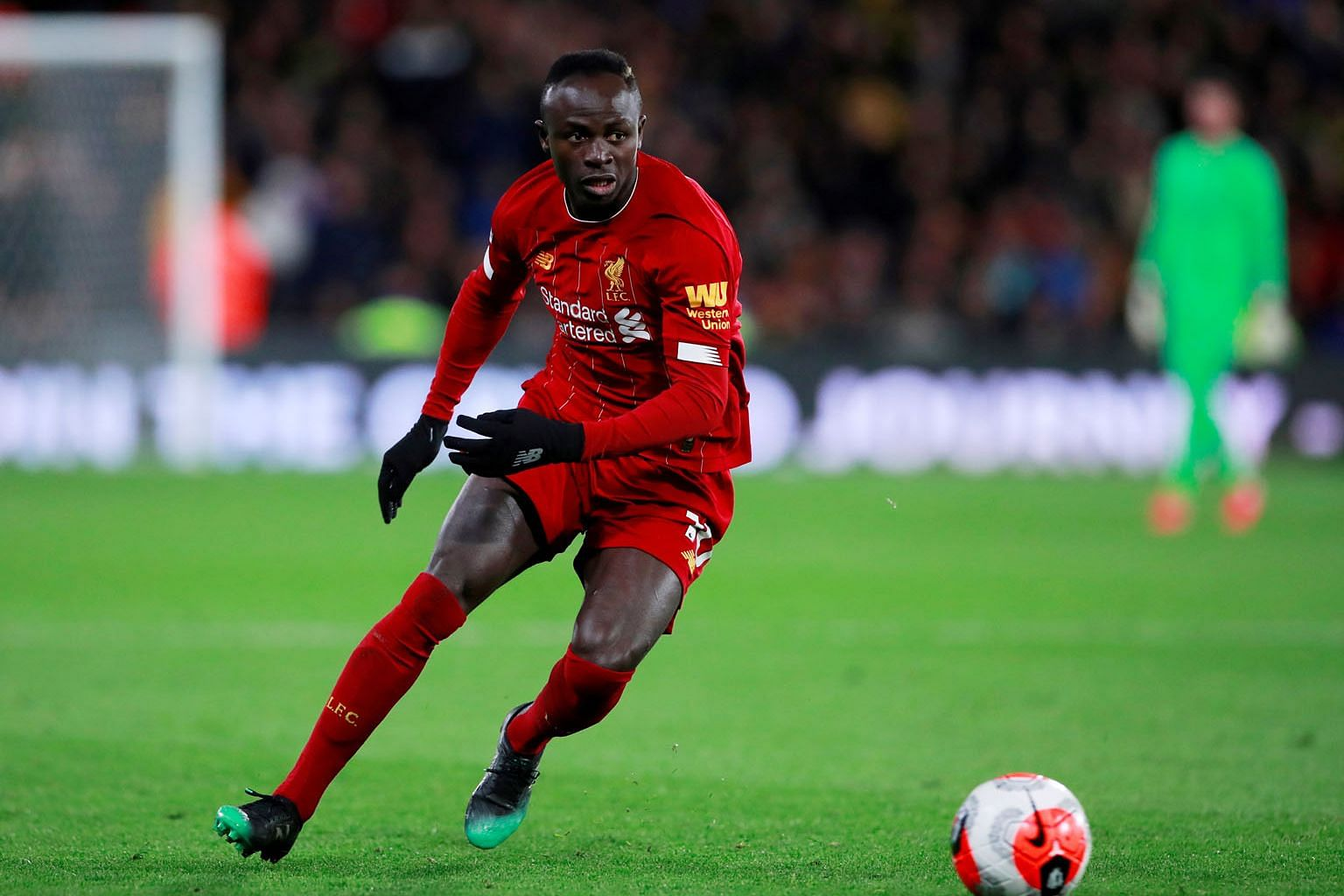 Sadio Mane has 14 Premier League goals to help Liverpool open up a 25-point lead when the top flight was suspended last month because of the coronavirus pandemic. PHOTO: REUTERS