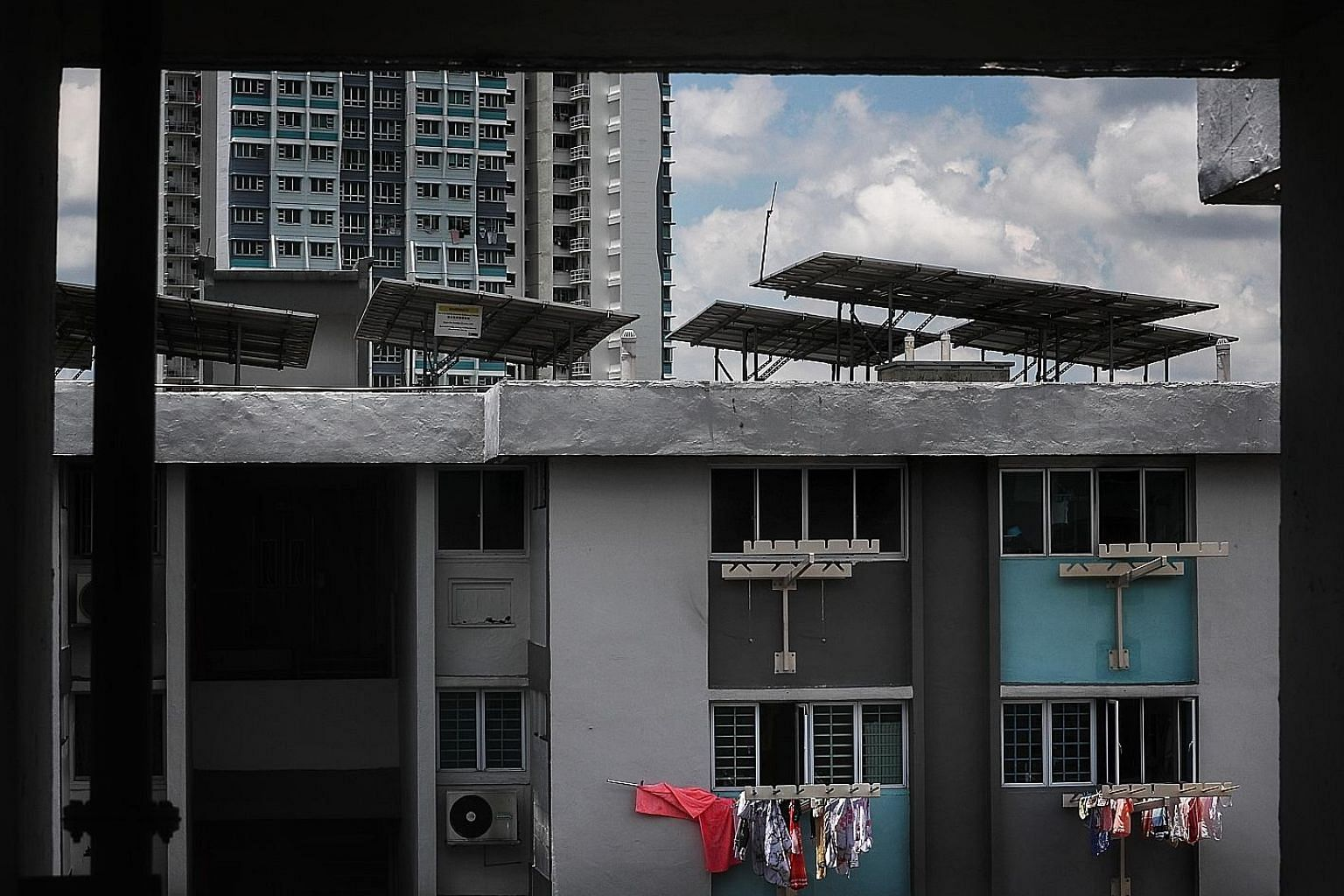 Solar panels on the rooftops of Housing Board blocks in Ang Mo Kio, Singapore. One of the sunniest cities in the world, solar energy is its most viable renewable energy option, Singapore's electricity regulator told Reuters.