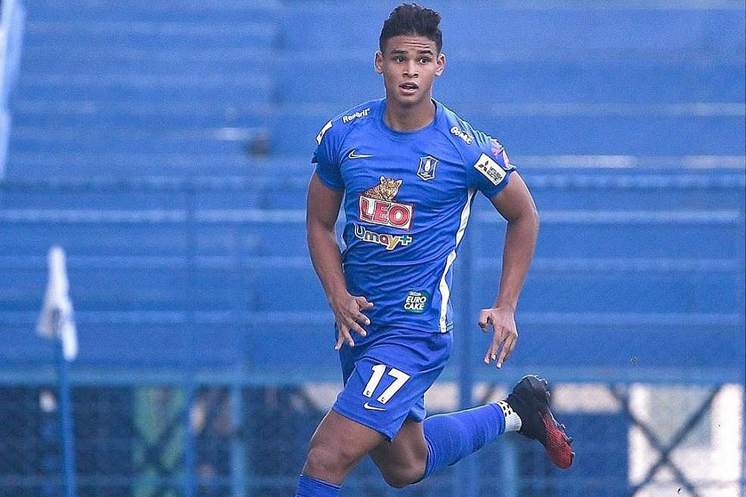 Left: Singapore's Irfan Fandi has helped to bolster BG Pathum United's defensive record. The Thai League 1 side have conceded just one goal in four games before the season was suspended because of the coronavirus pandemic. Below: With the gym closed