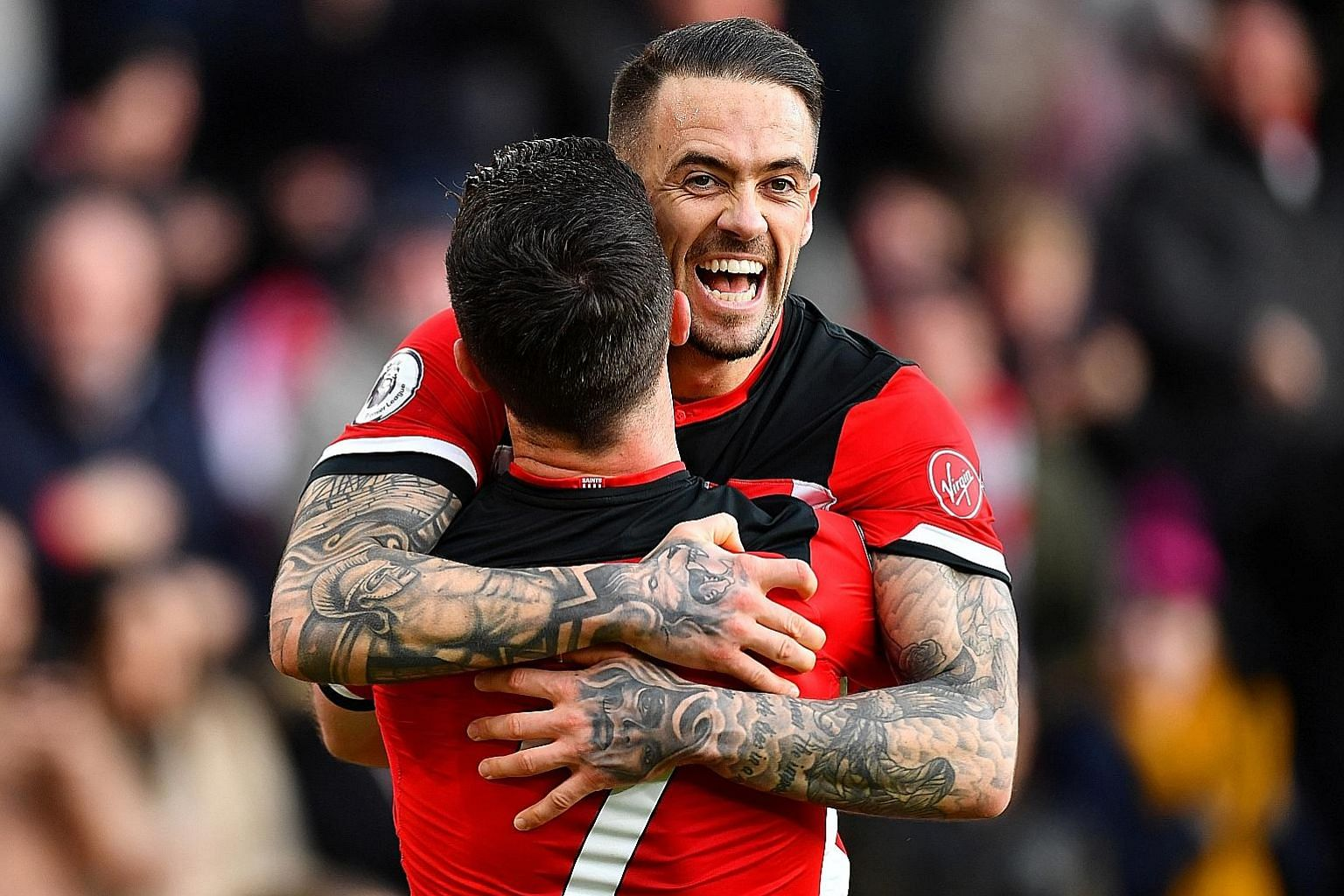 Danny Ings, who has a single England cap, is reportedly the highest-paid player at St Mary's with an annual pay packet of £3.9 million. The club's average salary is £2.3 million. PHOTO: REUTERS