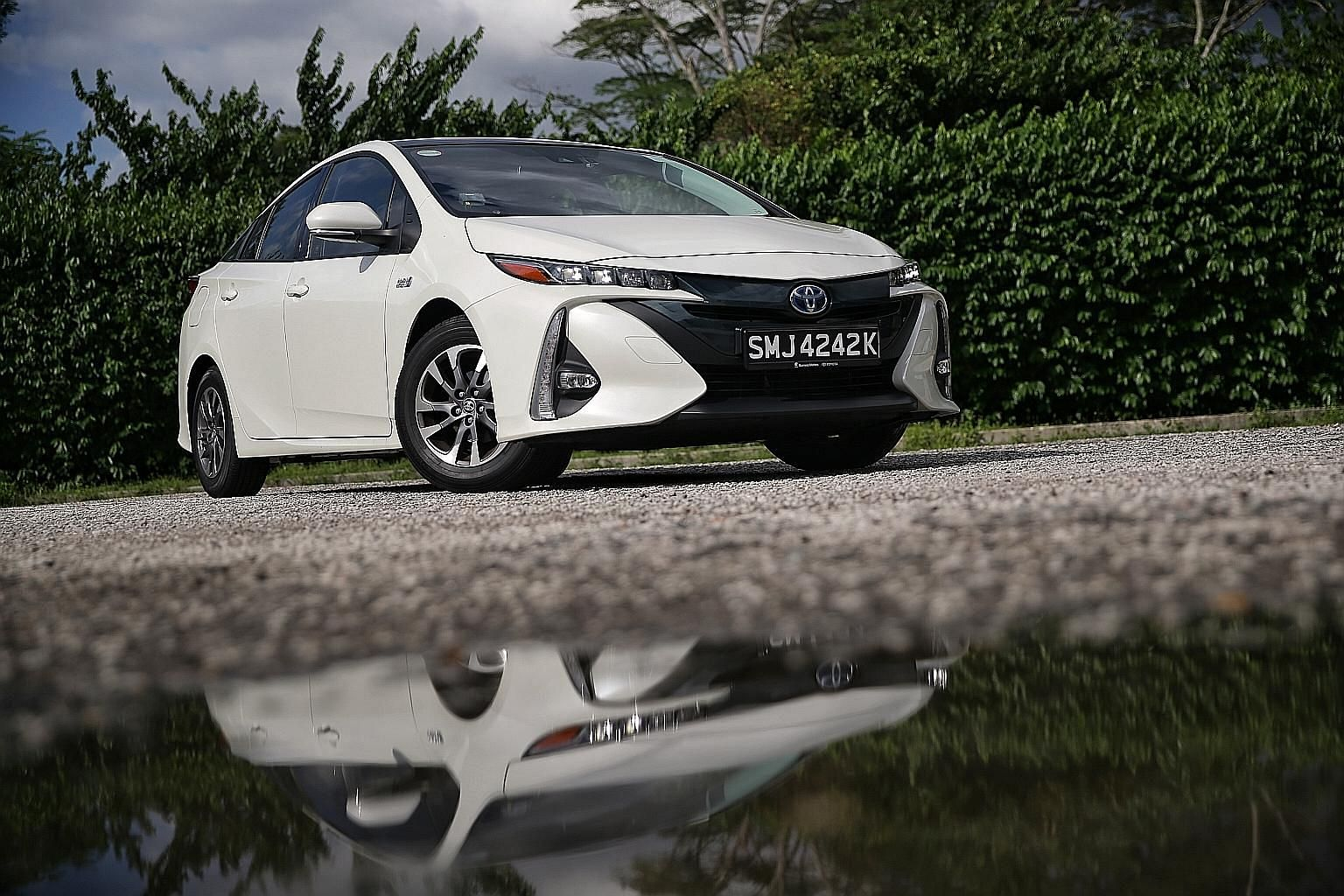 The Toyota Prius PHV (plug-in hybrid vehicle) clocks a century sprint of 11.1 seconds and has a top speed of 160kmh.