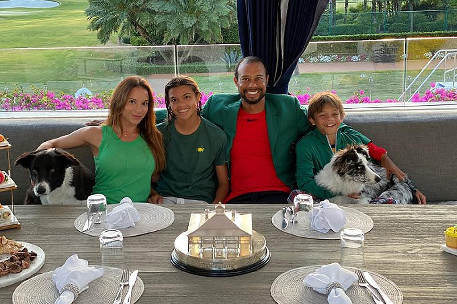 "SWEET TWEET ""Masters Champions Dinner quarantine style. Nothing better than being with family."" In what would have been Masters weekend, Tiger Woods had an eventful week, having dinner with the family while being the subject of a Tiger King mash-up."