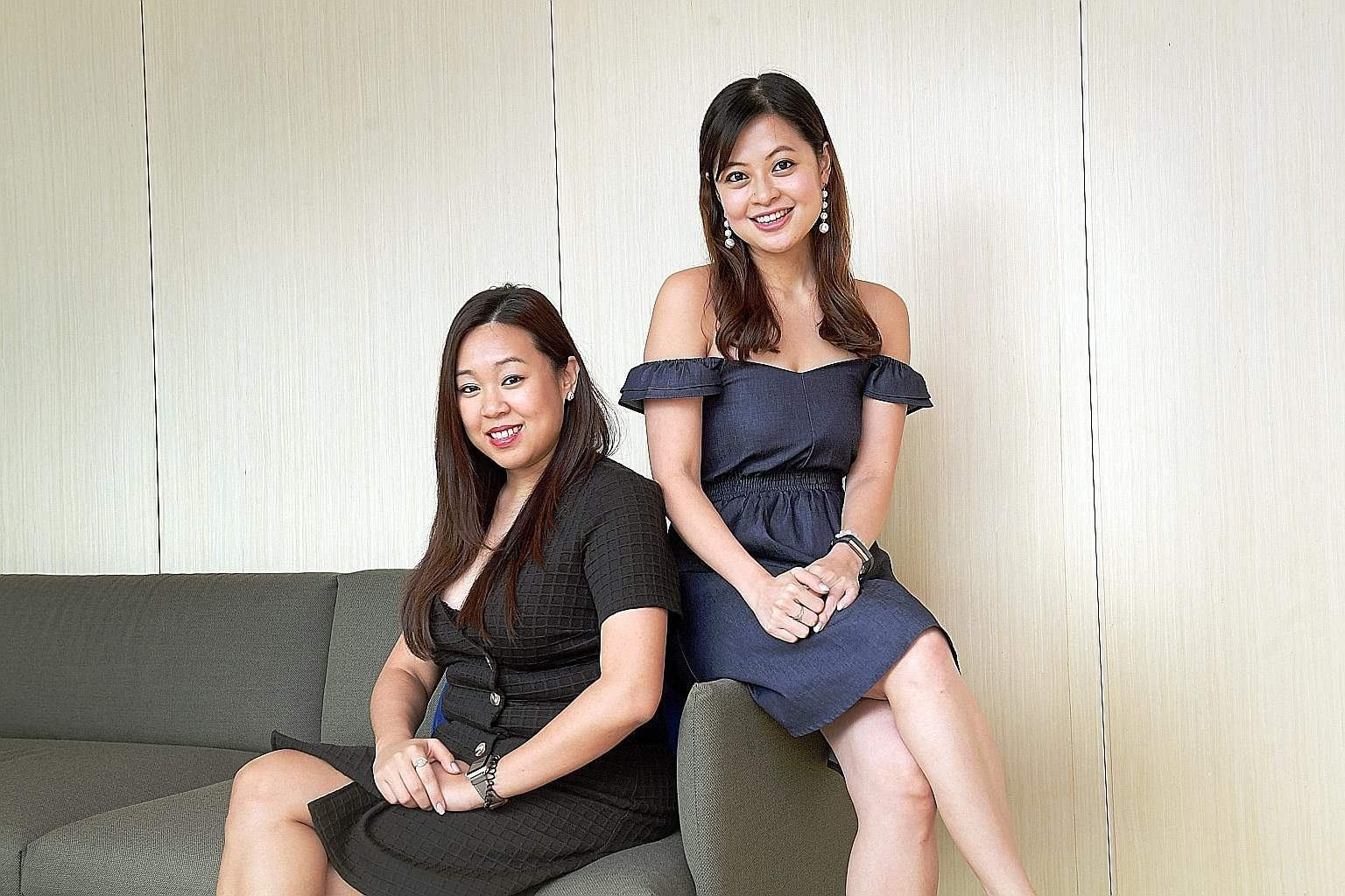 Delegate founders Melissa Lou (far left) and Jacqueline Ye. The online marketplace, which helps users source event venues and vendors, lets companies list for free. It set up a site where business owners can find information on growing sales using on