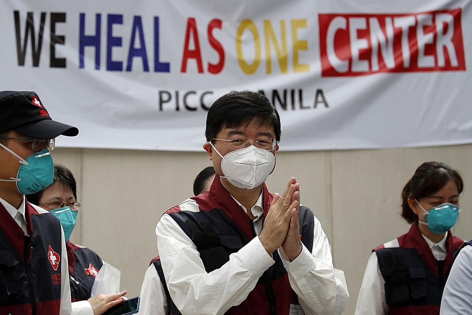 Chinese doctors at a Covid-19 isolation facility in Manila, Philippines, earlier this month. A Chinese music video extolling cooperation between Manila and Beijing amid the pandemic has touched a raw nerve instead.
