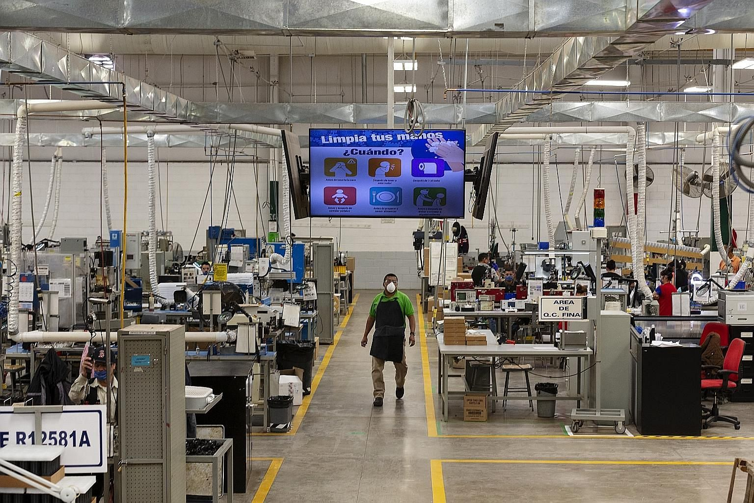 The Standex Electronics manufacturing facility in Sonora, Mexico amid the Covid-19 pandemic, on Monday. Companies in the United States are rushing to find new manufacturing partners in Mexico. The Monetary Authority of Singapore believes the US-Mexic