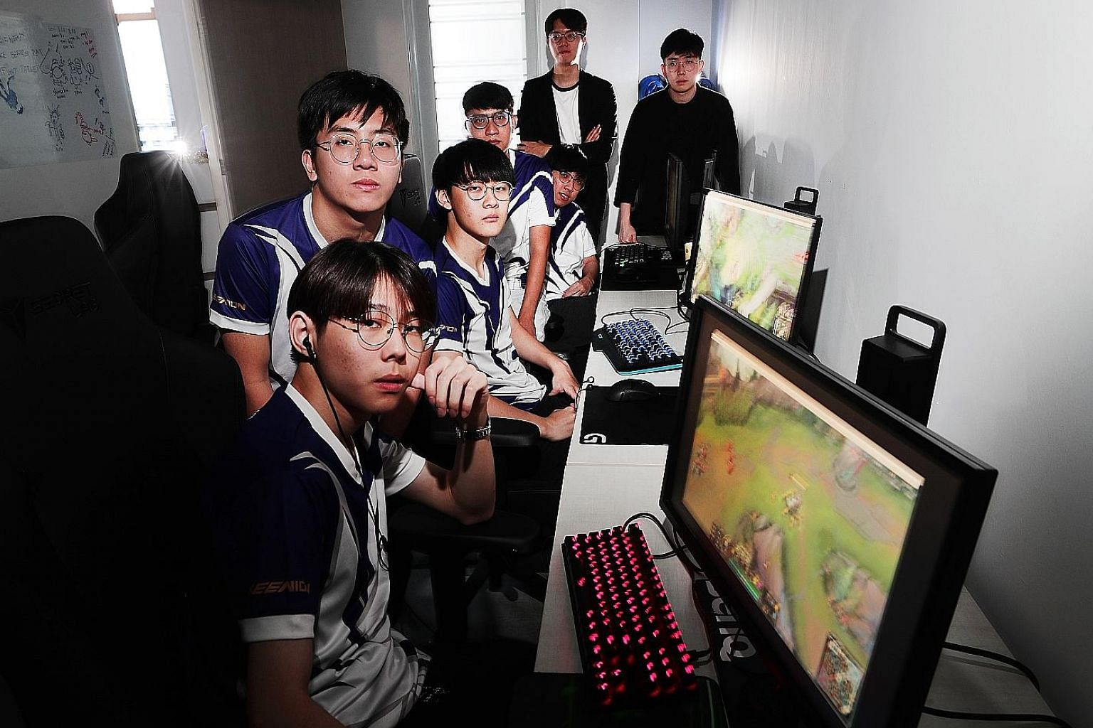 Singapore's growing legion of e-sports players include Resurgence's League Of Legends team members. ST FILE PHOTO