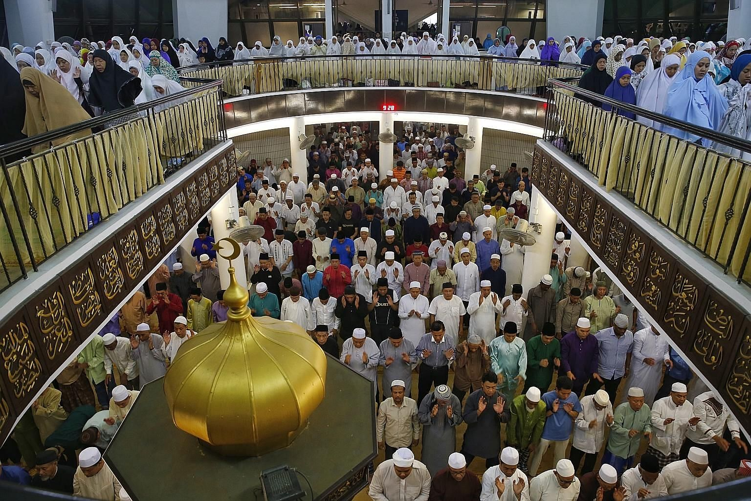 Muslims in Singapore at evening prayers to mark the eve of the first day of Ramadan in 2015.