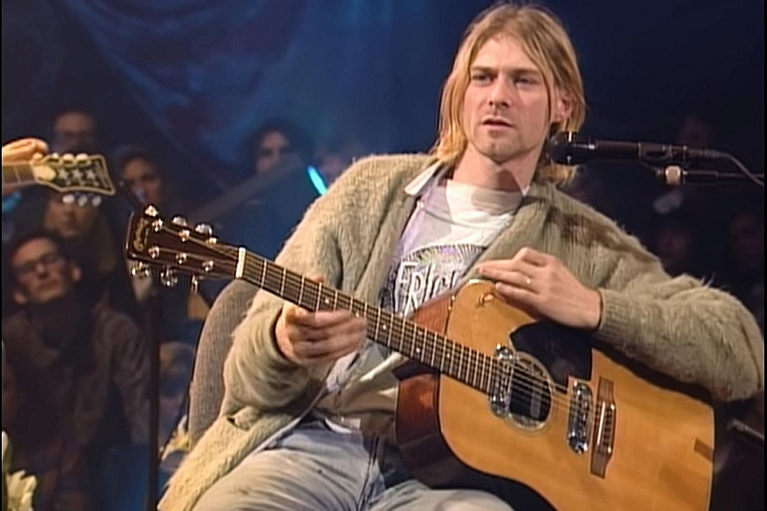 Kurt Cobain played the 1959 Martin D-18E guitar (above) at Nirvana's MTV Unplugged session in 1993, just five months before his death.
