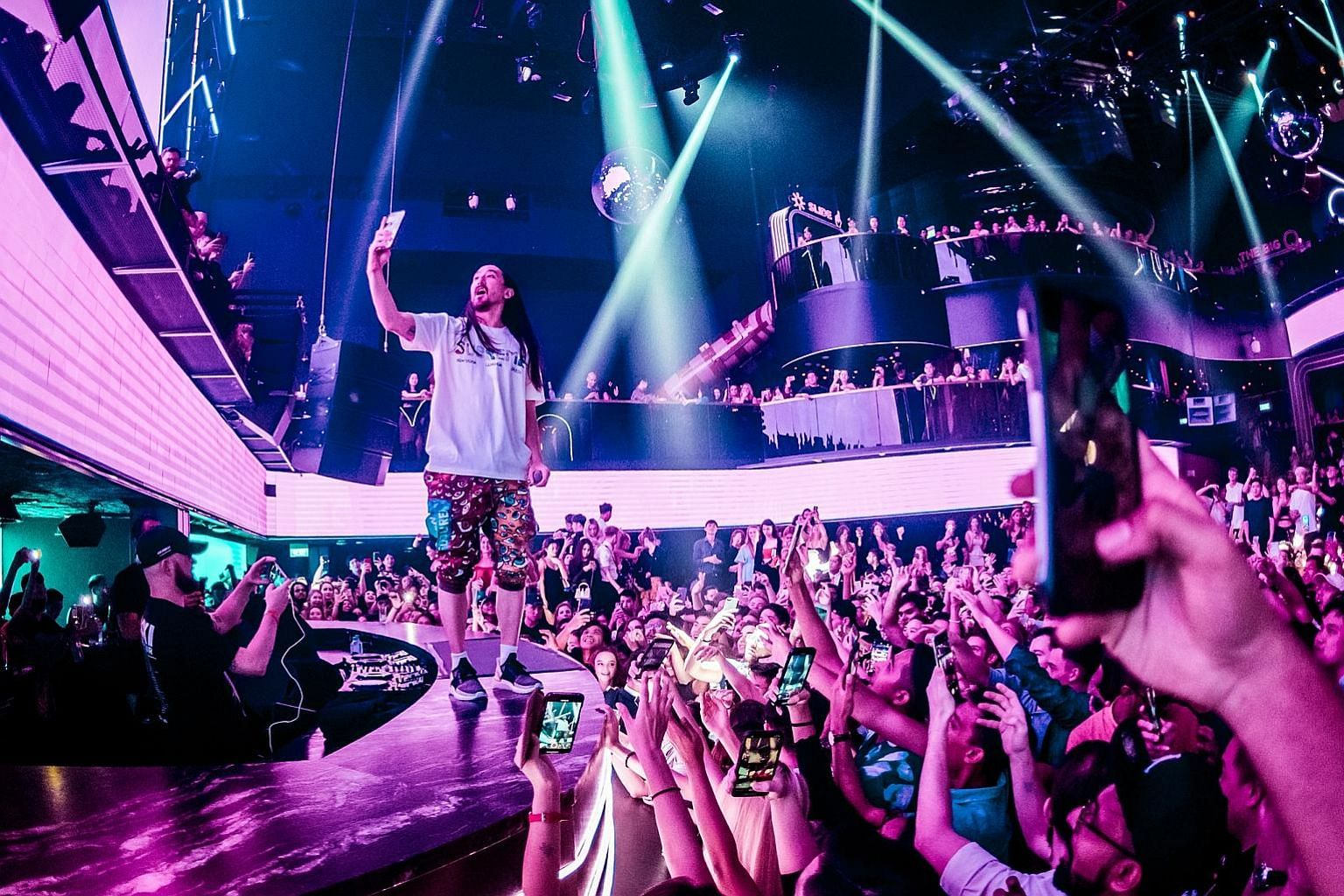 Marquee Singapore's birthday bash will be headlined by top names in the dance music world - DJs Steve Aoki (left), Nicky Romero and Andrew Rayel - who will be spinning back to back from their own homes and studios.
