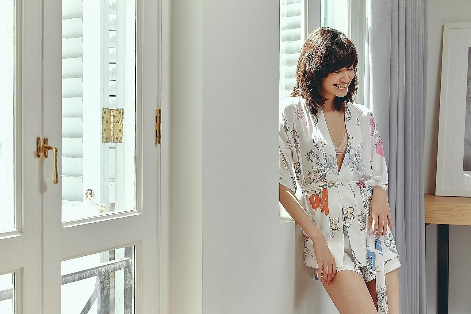 Home-grown label Love, Bonito's loungewear collection comprises separates like kimonos (above) and camisole tops.