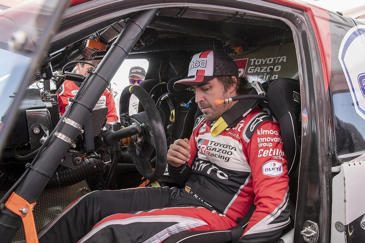 Fernando Alonso after Stage 8 of the Dakar Rally in January. He finished 13th overall in his debut. PHOTO: EPA-EFE