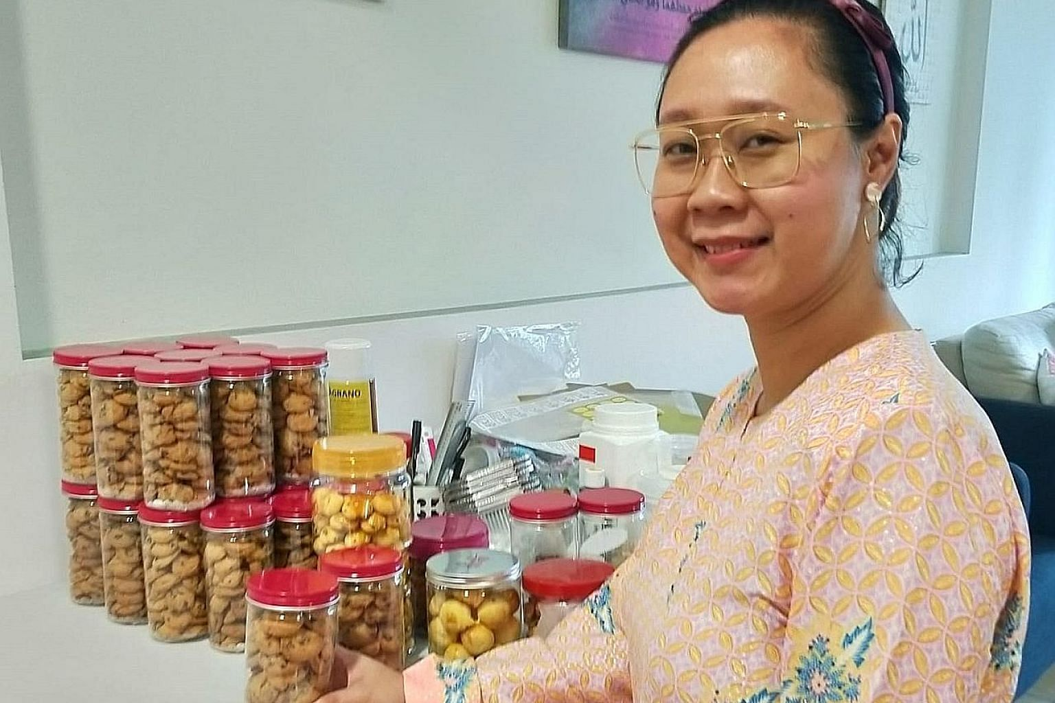 Ms Siti Hartini, owner of home bakery Shartini's Food Journal, has seen sales increase by about 20 per cent after the easing of restrictions on home-based food businesses from May 12. Experts said pent-up demand could have boosted sales for home bake