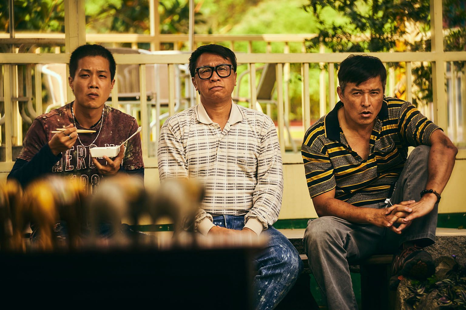 ((Above) In Workers, (from far left) Hsueh Shih-ling, Yu An-shun and Christopher Lee play buddies who come up with get-rich-quick schemes.