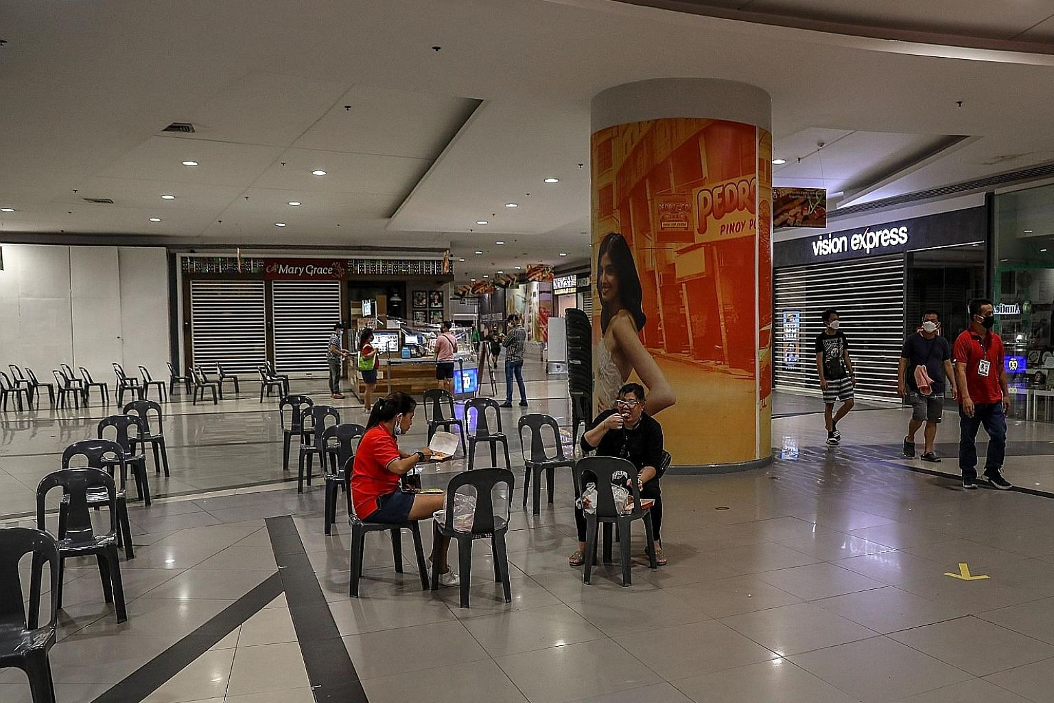 A mall in Manila, which saw very few visitors, earlier this month. The situation is dire for over a million micro, small and medium-sized enterprises in the Philippines. By one estimate, most have just two to three months' worth of cash left. Even af
