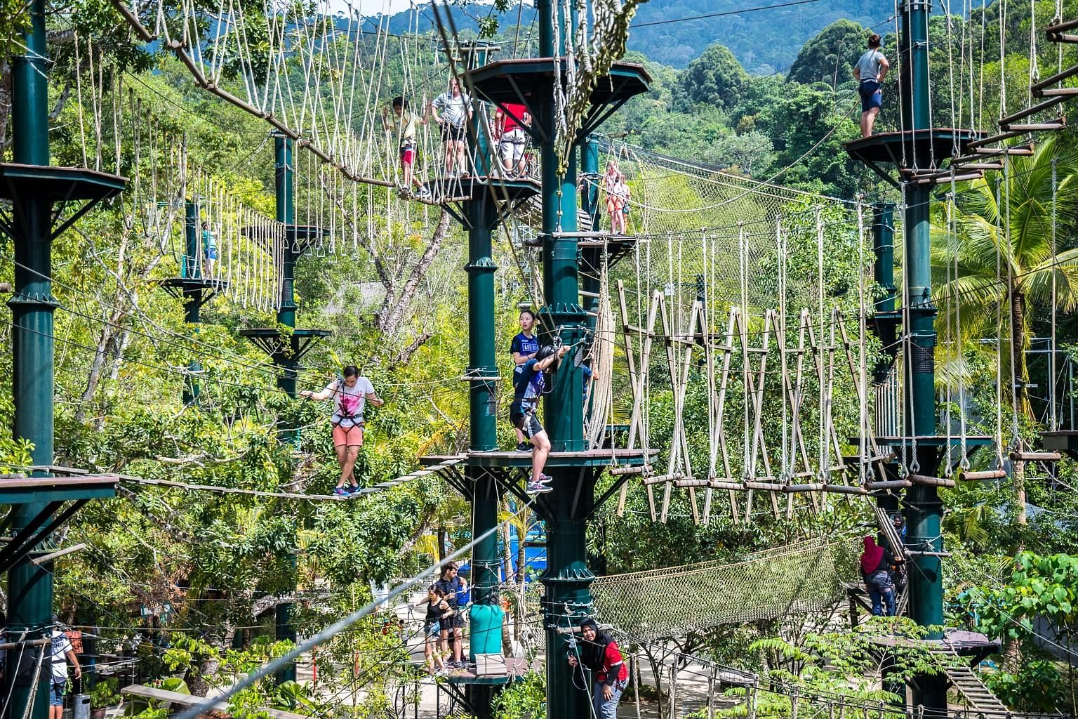 Sim Leisure Group's Escape Adventureplay is an outdoor adventure theme park in Penang comprising eco-friendly features and design elements reminiscent of traditional villages in Malaysia. The listed theme park developer and operator's founder and chi